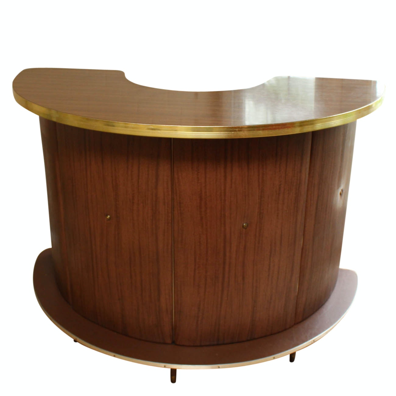 Mid Century Modern Indoor Curved Bar