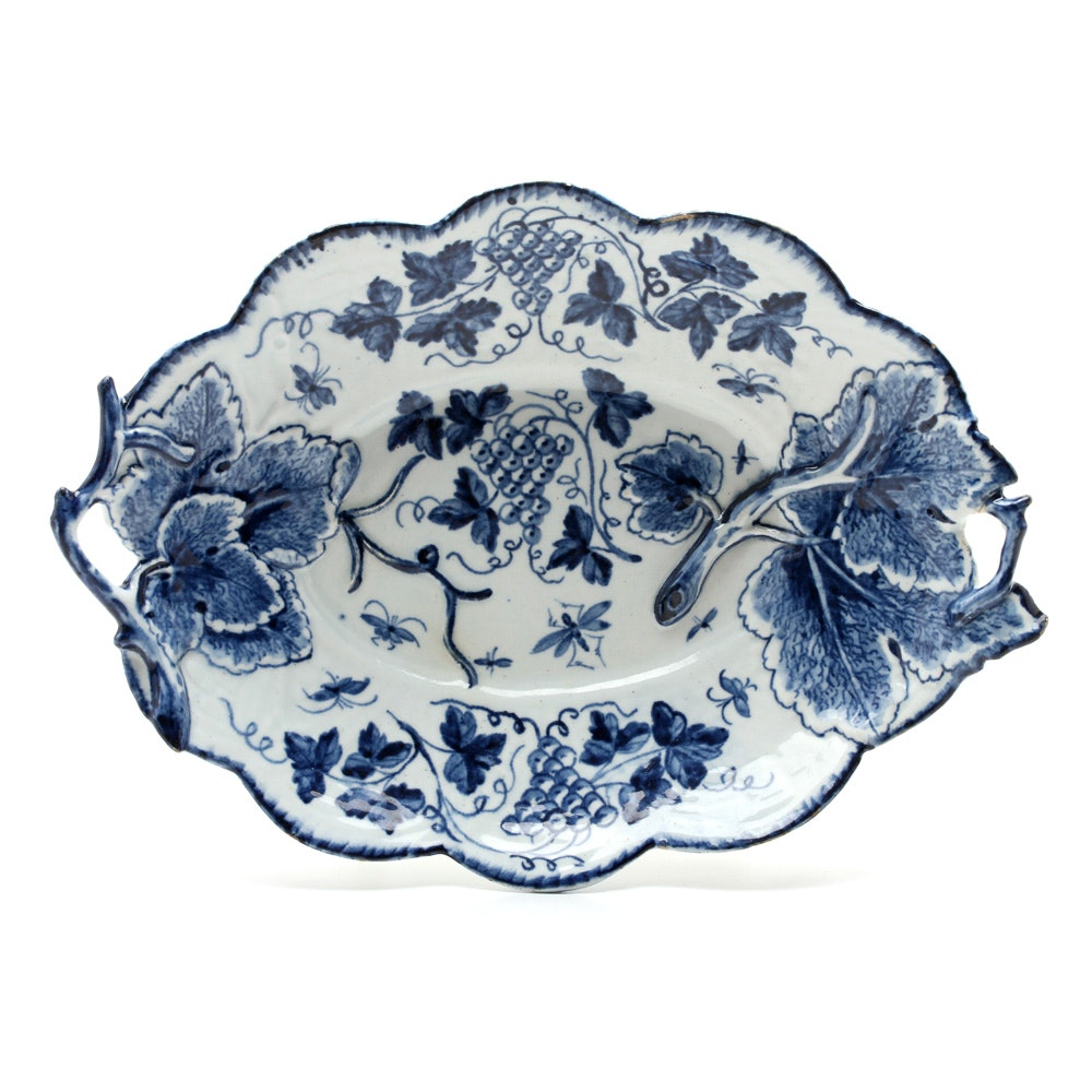 "Bow ""Grapevine"" Patterned Dish Circa 1760"