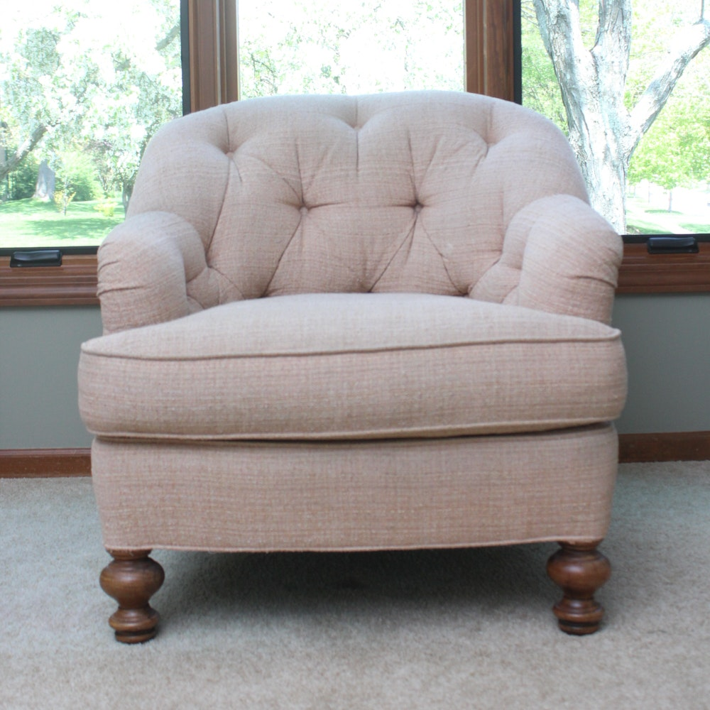 Hickory Home Furniture Company Button-Tufted Armchair