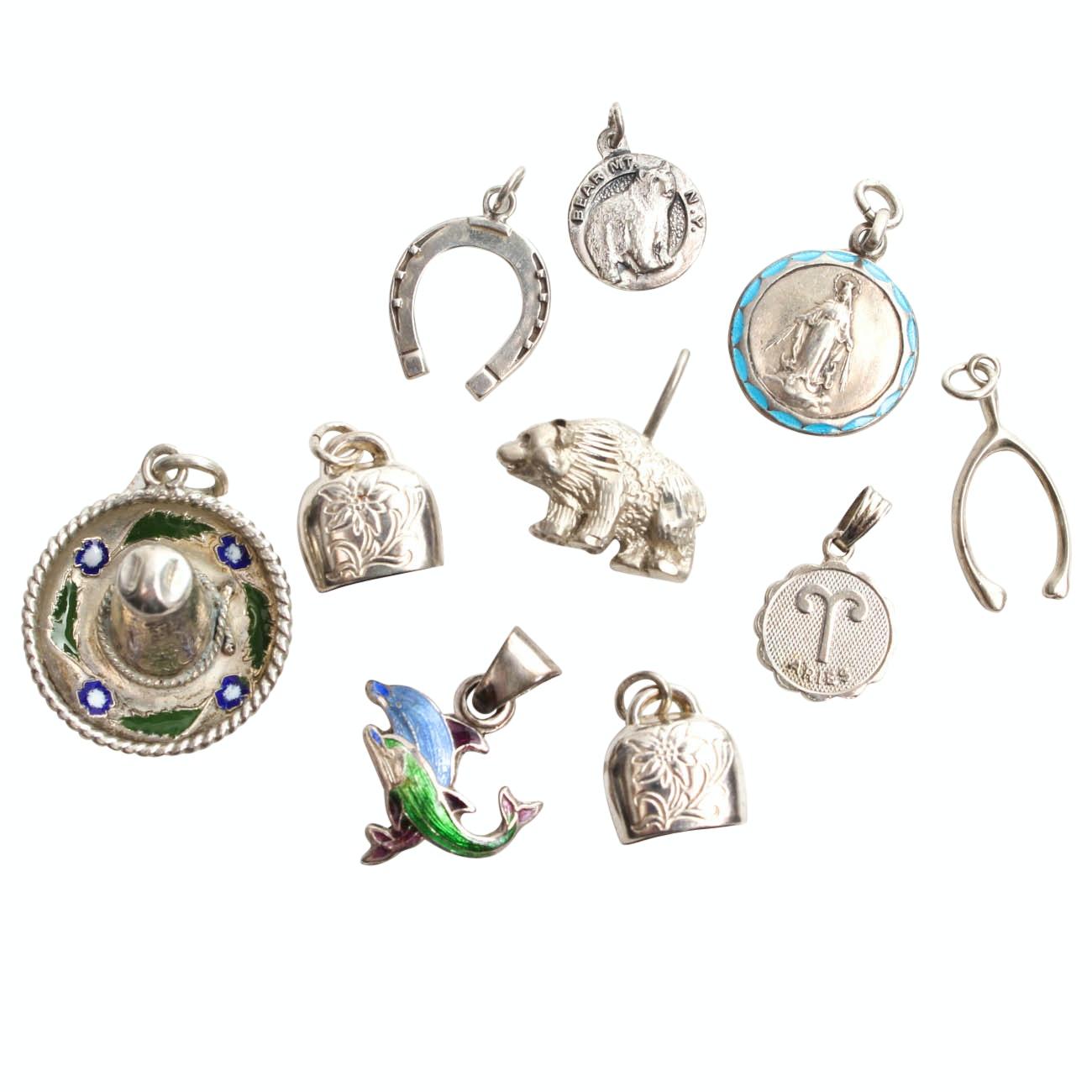 Sterling Silver Bracelet Charms