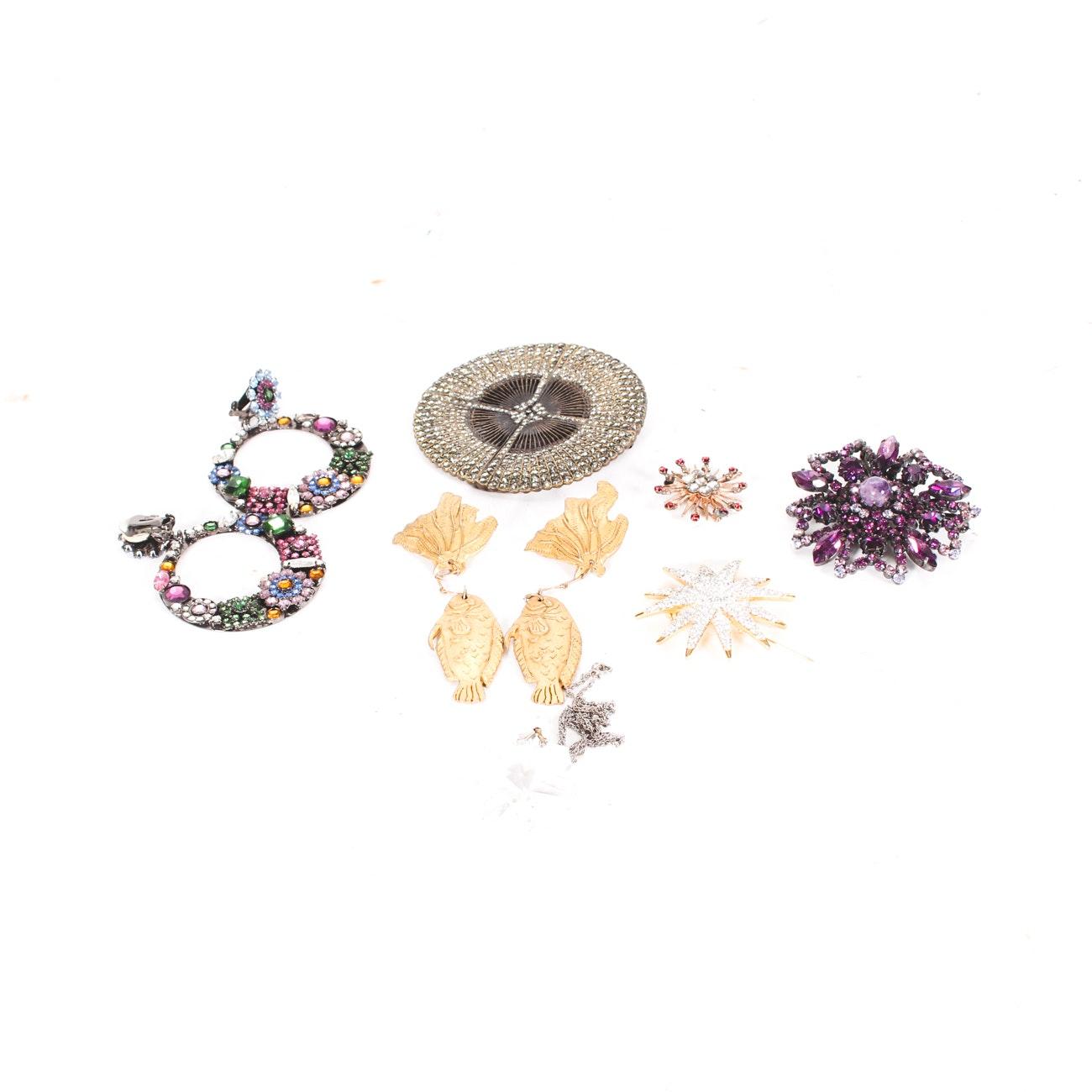 Assortment of Fashion Jewelry Featuring Heidi Daus, Sorrelli, and Swarovski