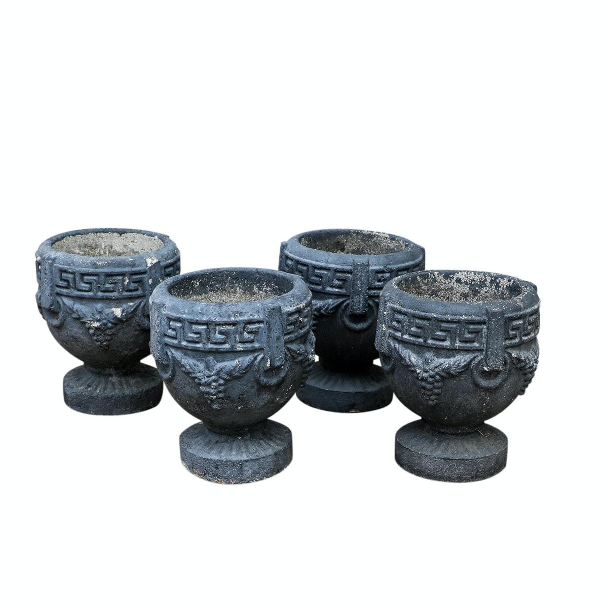 Neoclassical Style Cast Stoneware Garden Planters