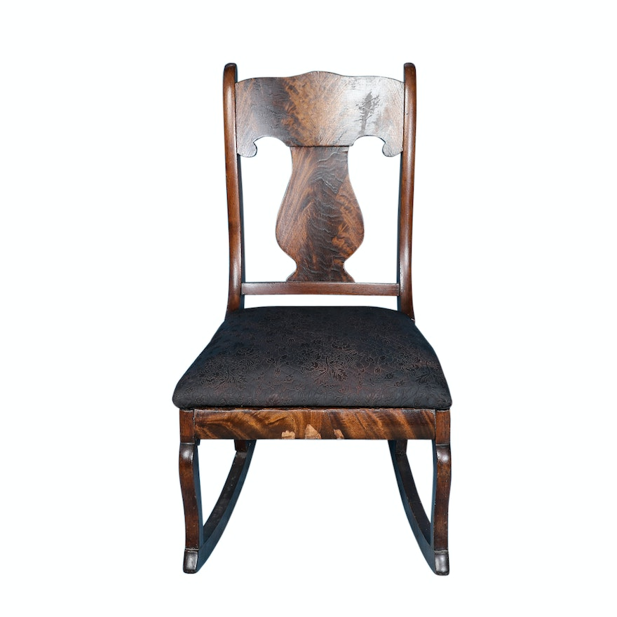 Brilliant Antique Queen Anne Style Rocking Chair Gamerscity Chair Design For Home Gamerscityorg
