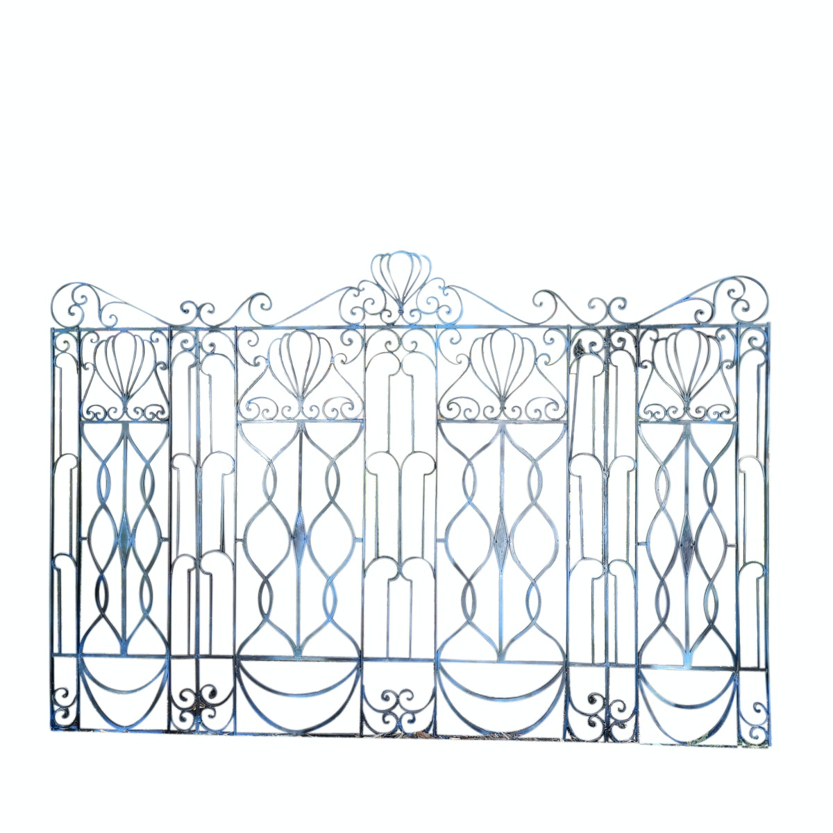 Vintage Inspired Verdigris-Tone Iron Gate