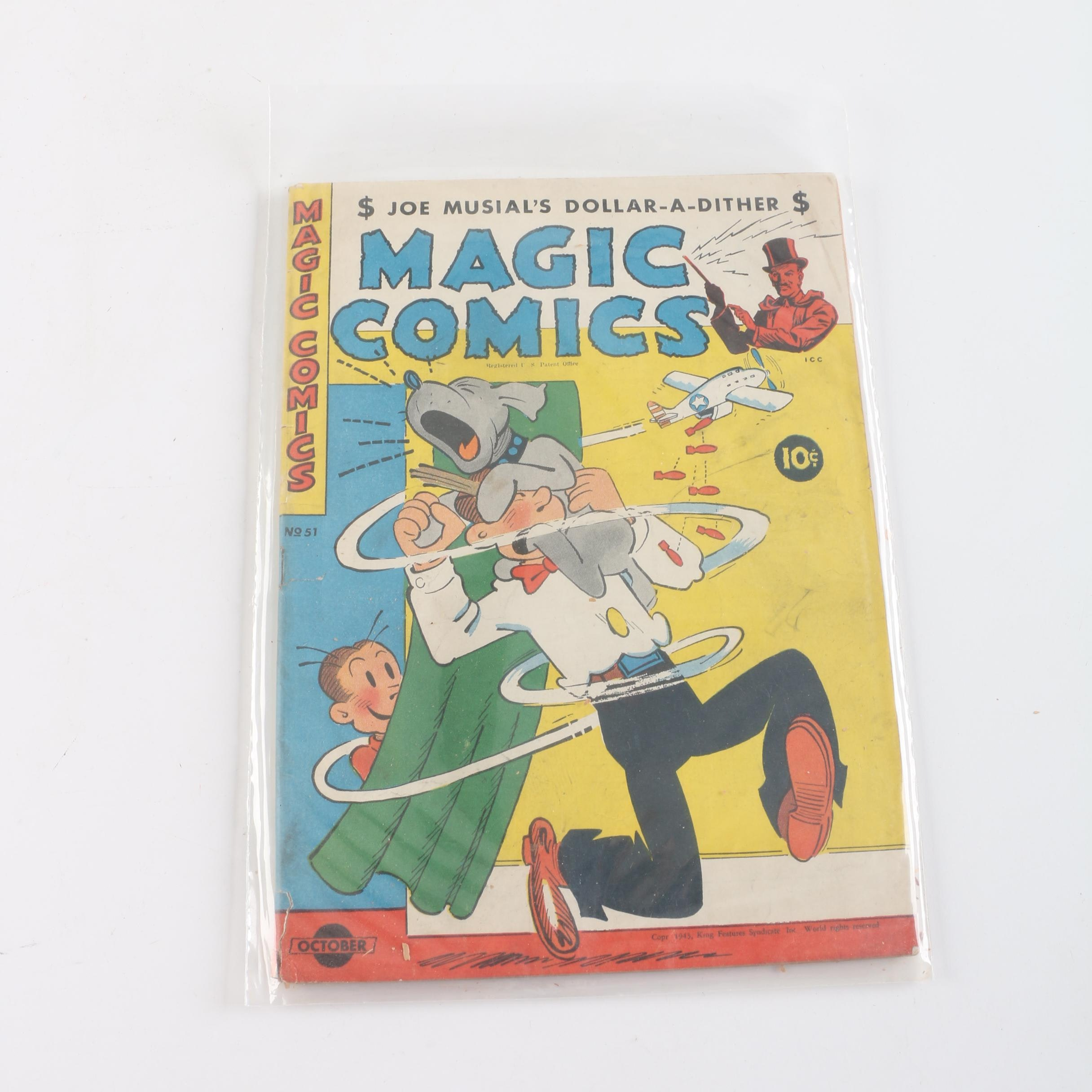 "1943 ""Magic Comics"" Issue #51 Comic Book"