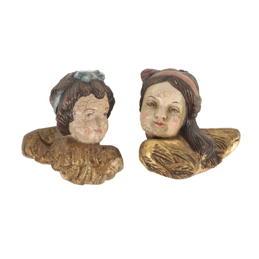 carved wood angel faces ebth