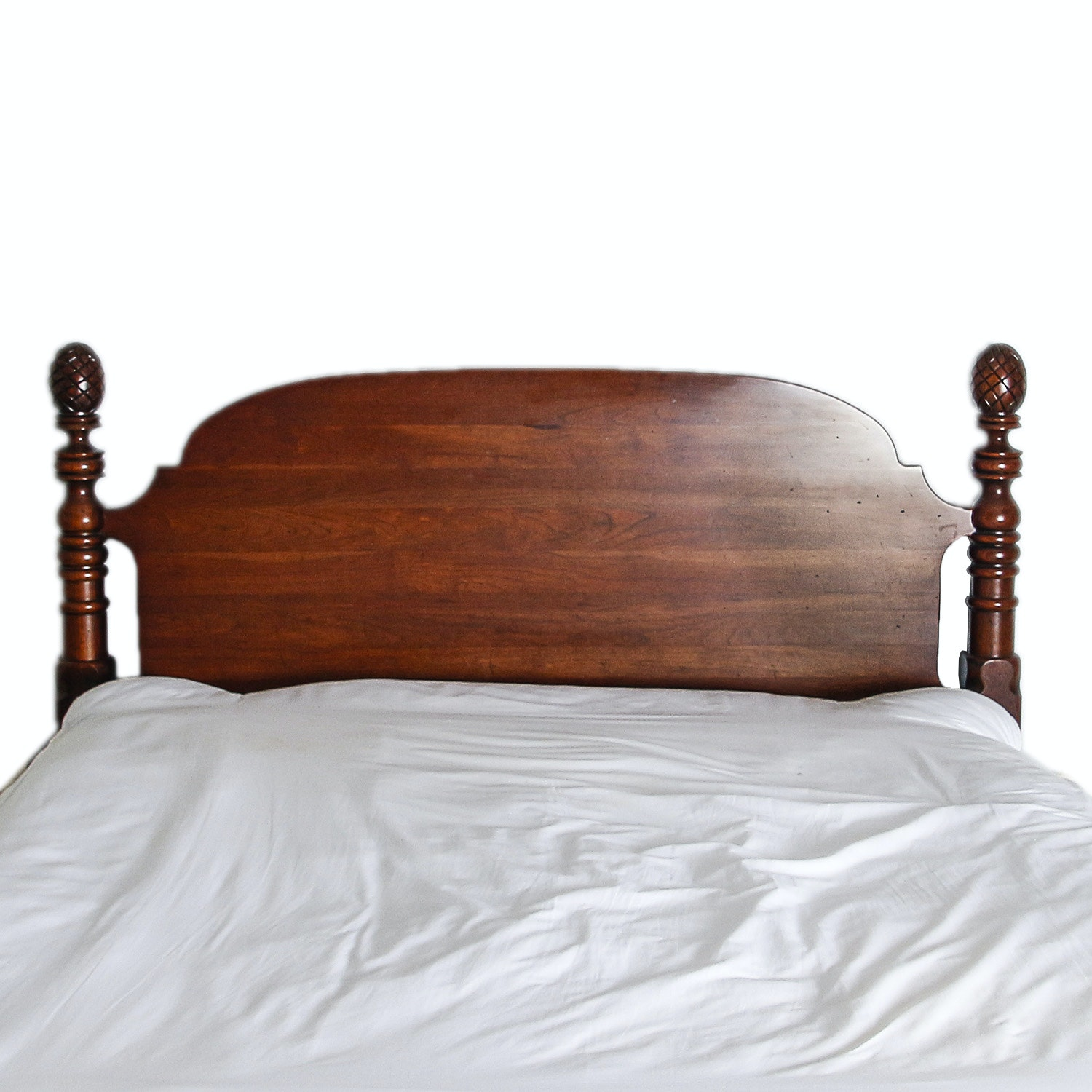 Traditional Style Queen-Sized Headboard with Metal Bed Frame