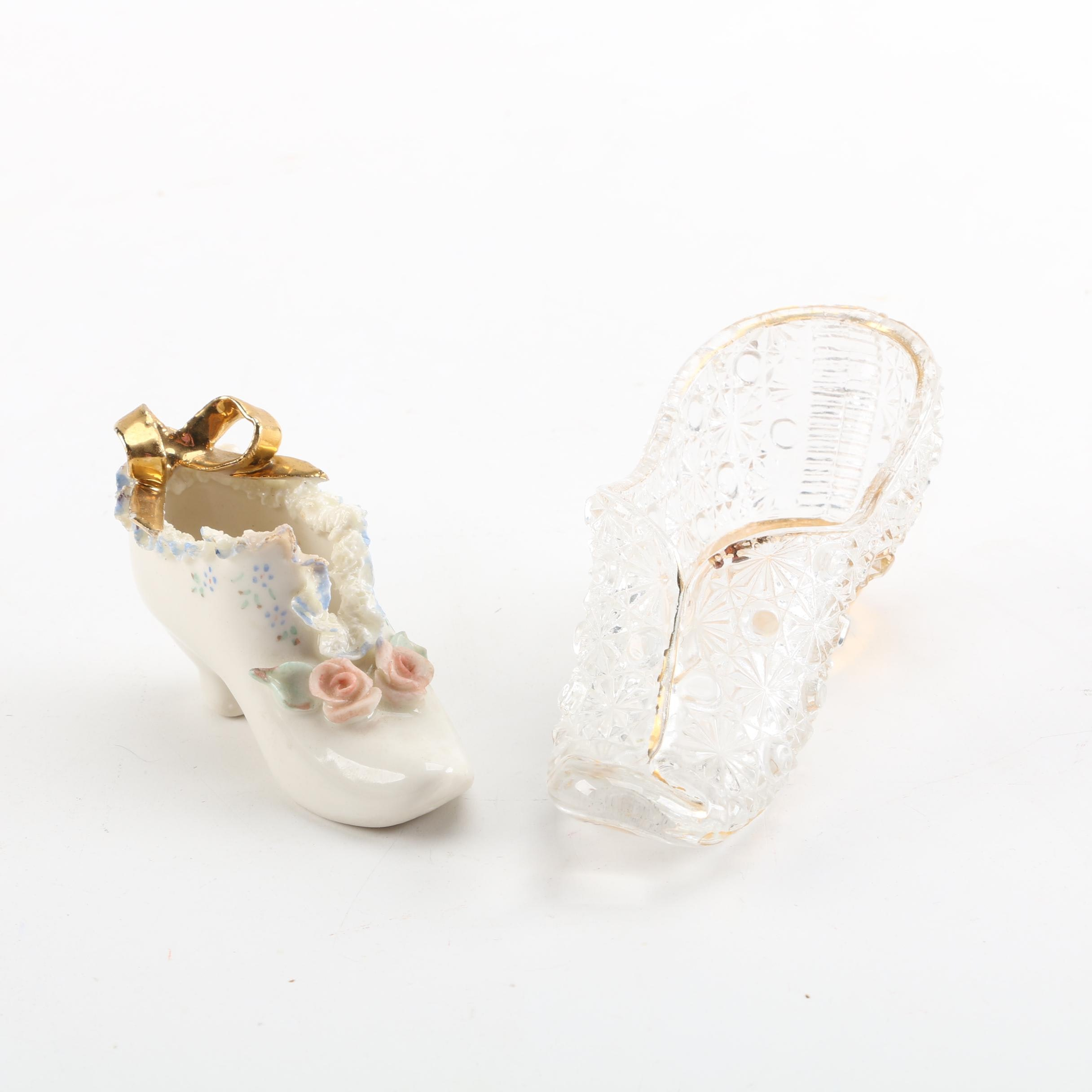 Heirlooms of Tomorrow Porcelain Shoe and Glass Shoe