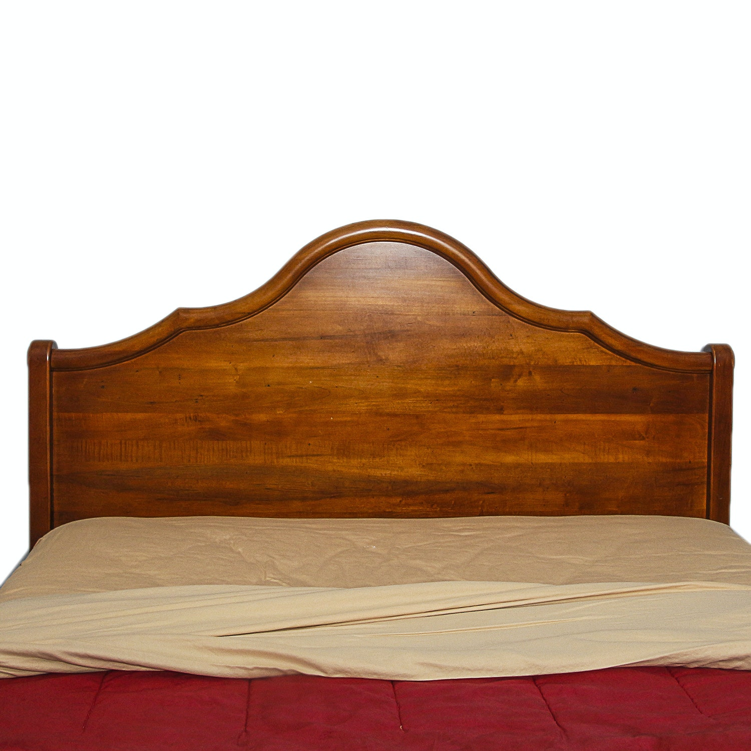 Contemporary Walnut-Finished Queen-Sized Headboard