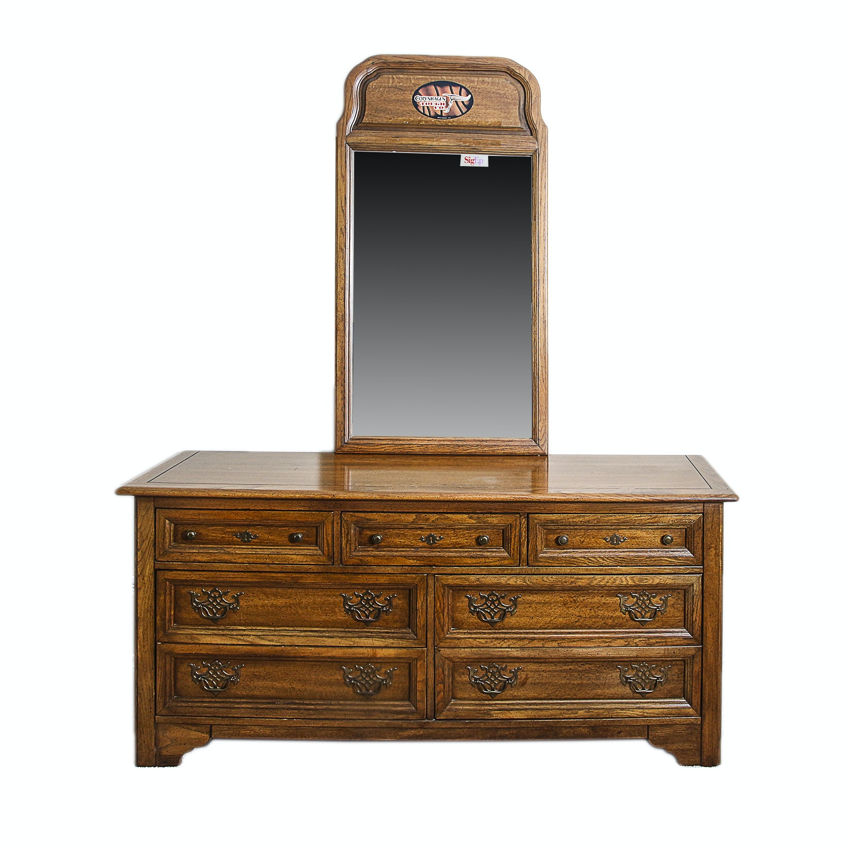 Vintage Dresser with Mirror by Stanley