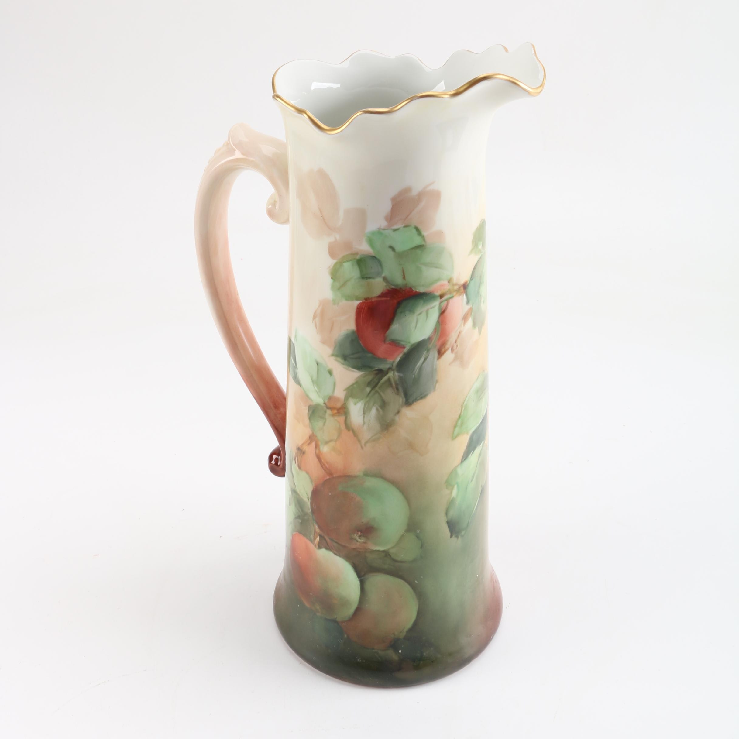Antique Jean Pouyat La Ceramique Limoges Porcelain Chocolate Pot