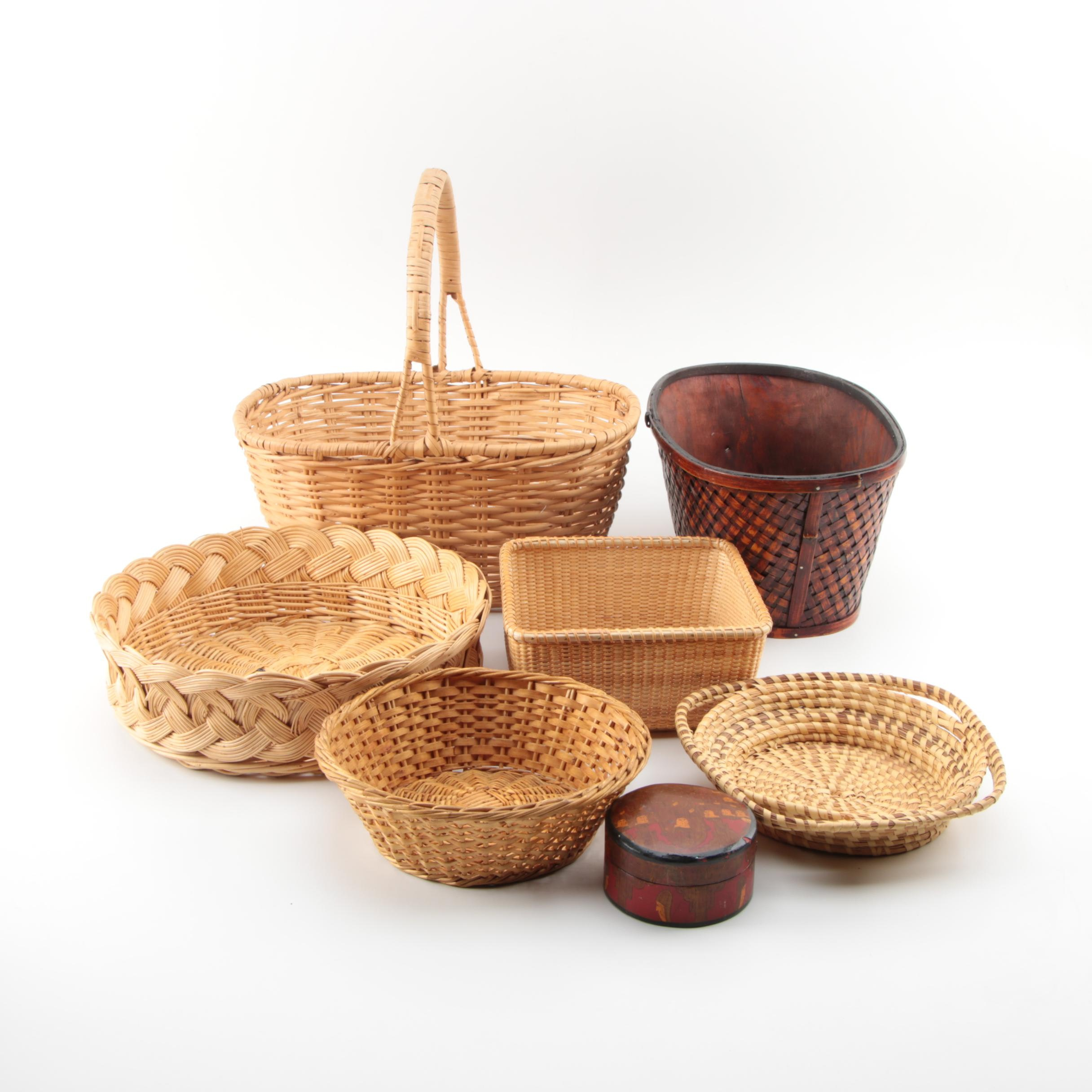 Assorted Decorative Baskets and Box
