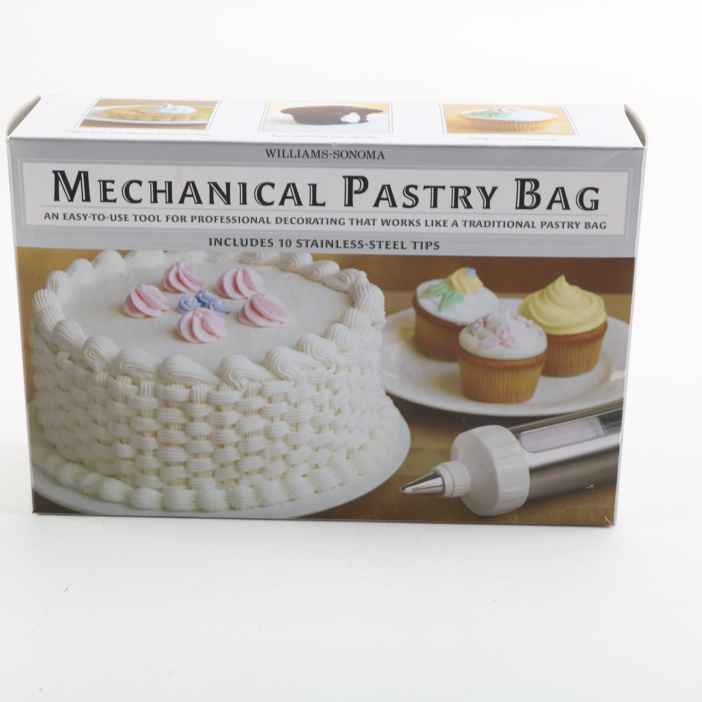 Williams-Sonoma Mechanical Pastry Bag Decorating Kit With Variety of Tips