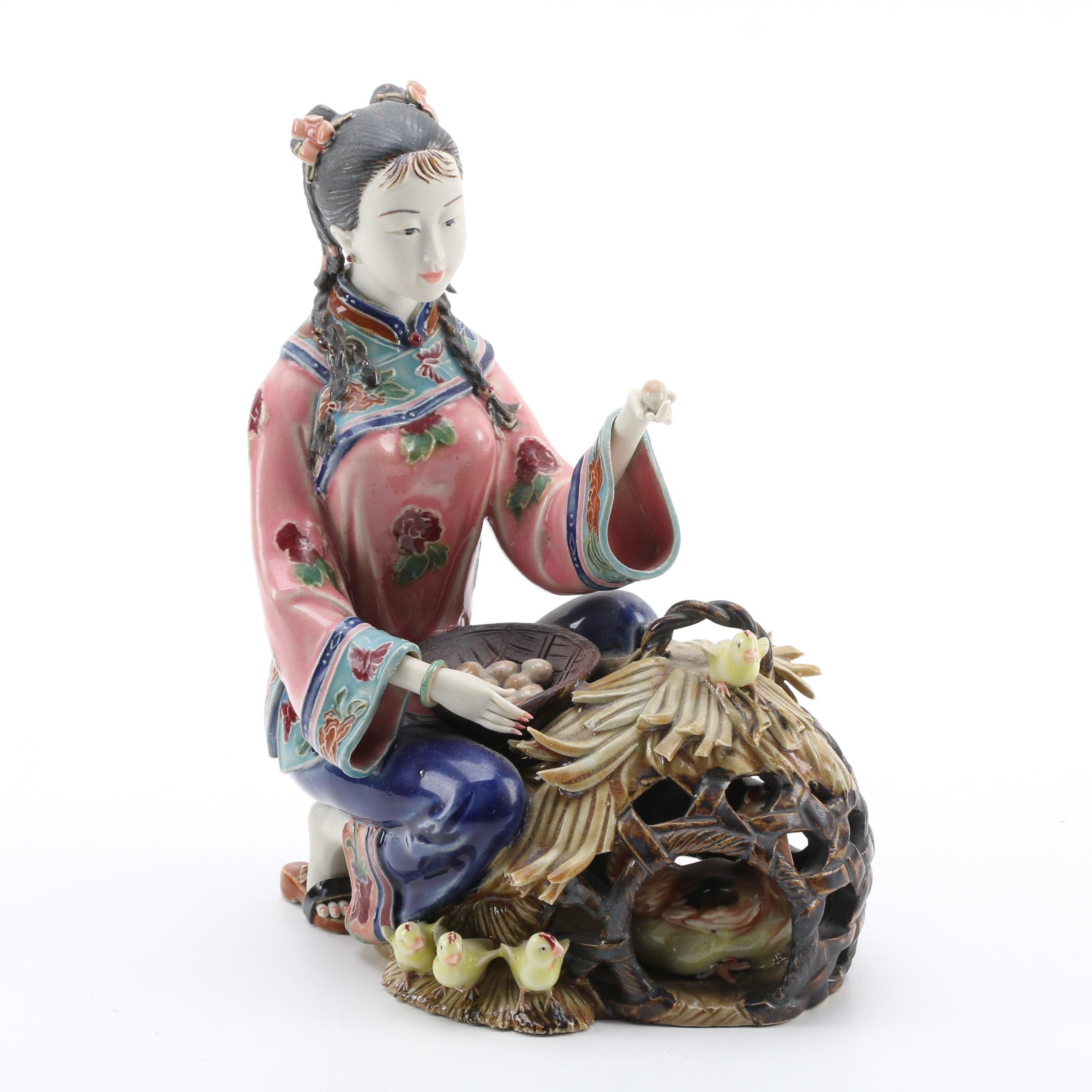 Chinese Female Ceramic Figurine