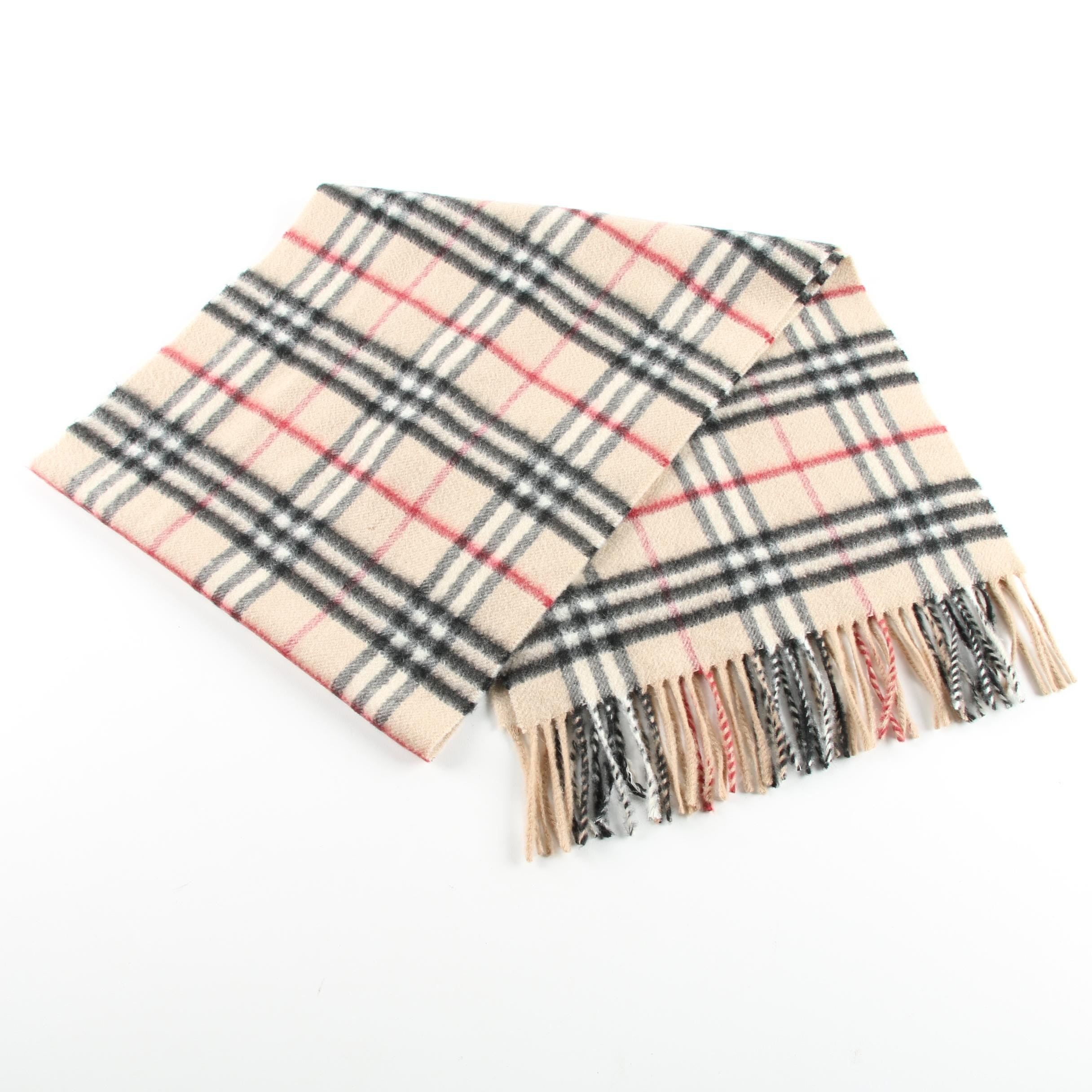 Burberry London Haymarket Check Cashmere Scarf