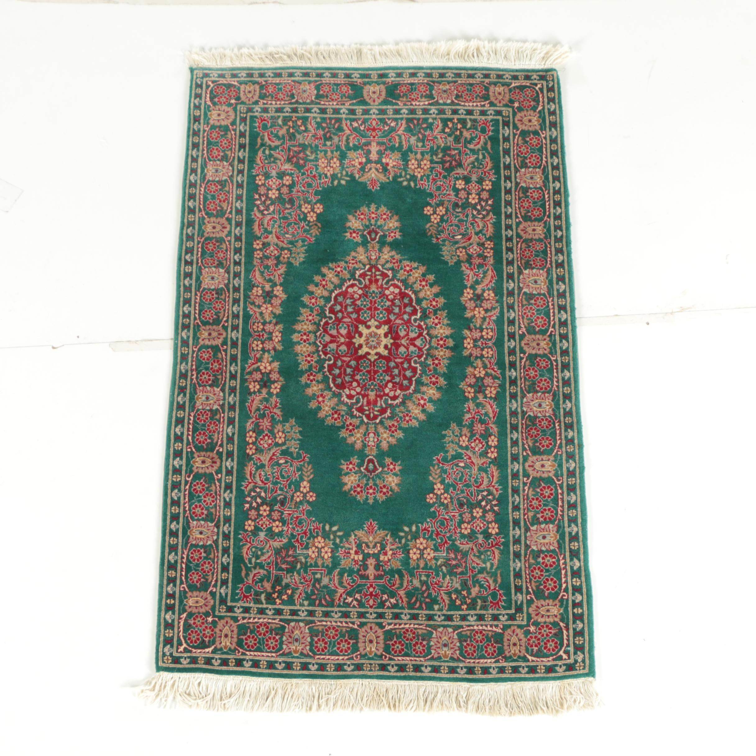 Hand-Knotted Pakistani Wool Accent Rug