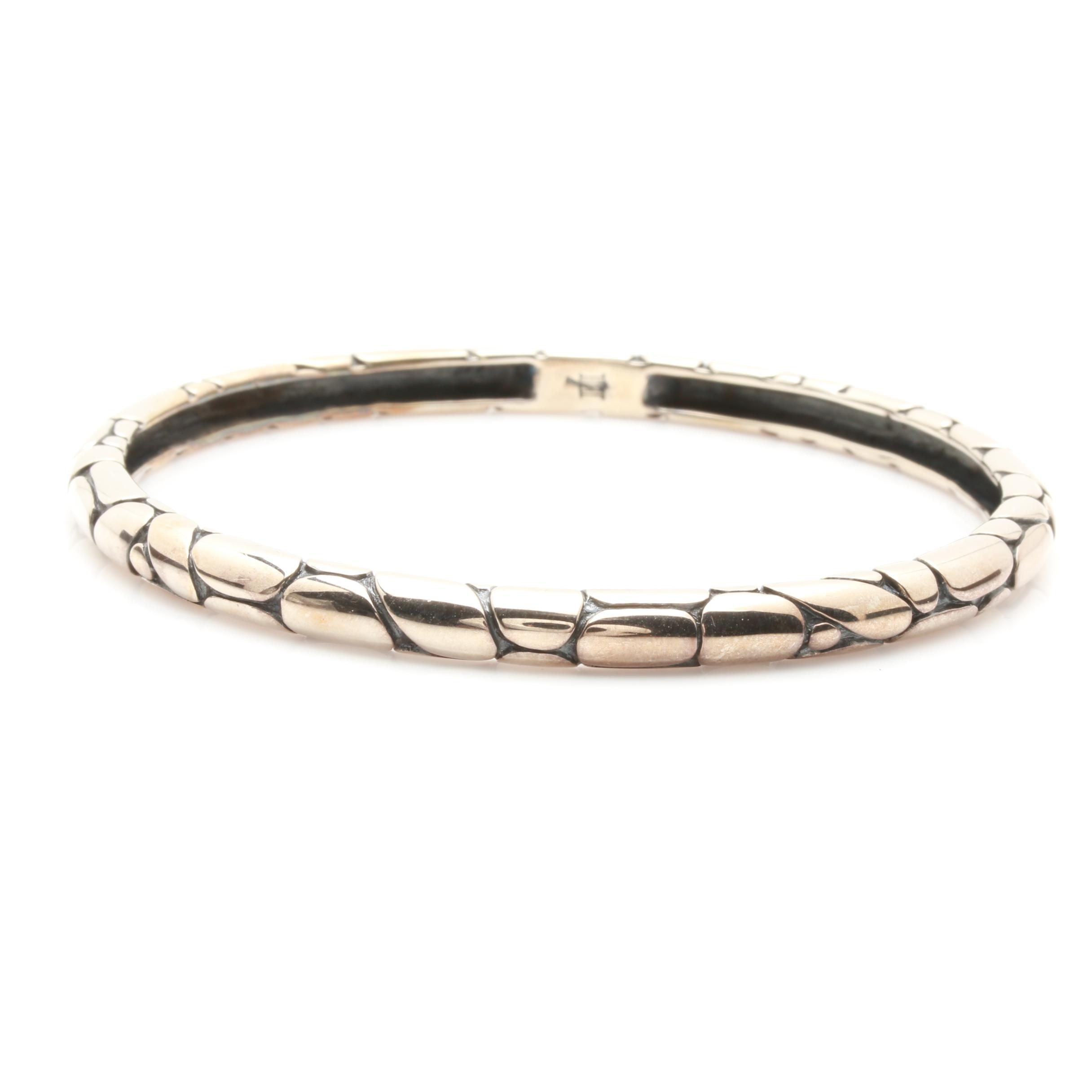 "John Hardy ""Kali Pebble"" Sterling Silver Bangle"