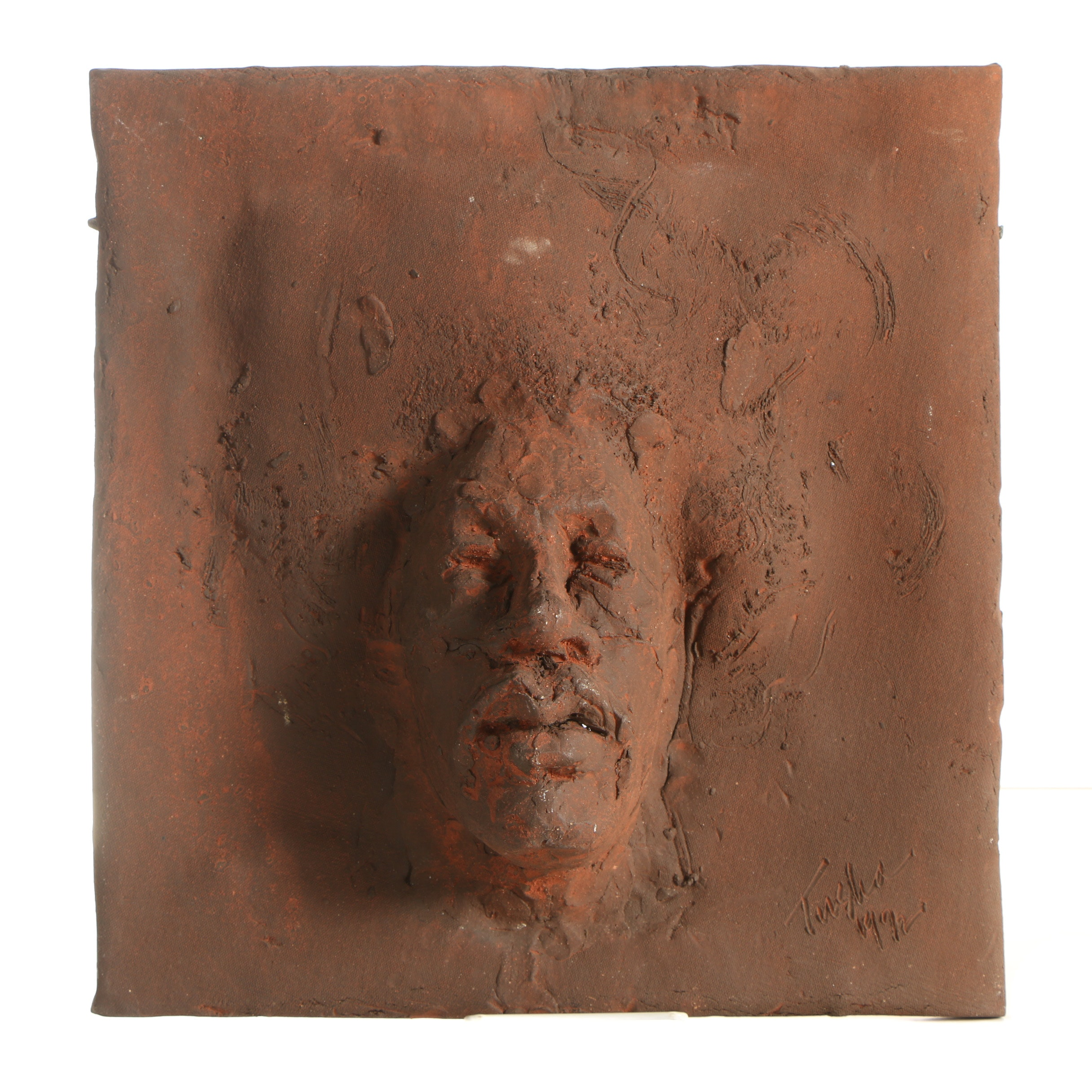 John Tuska Clay Bas-Relief Sculpture