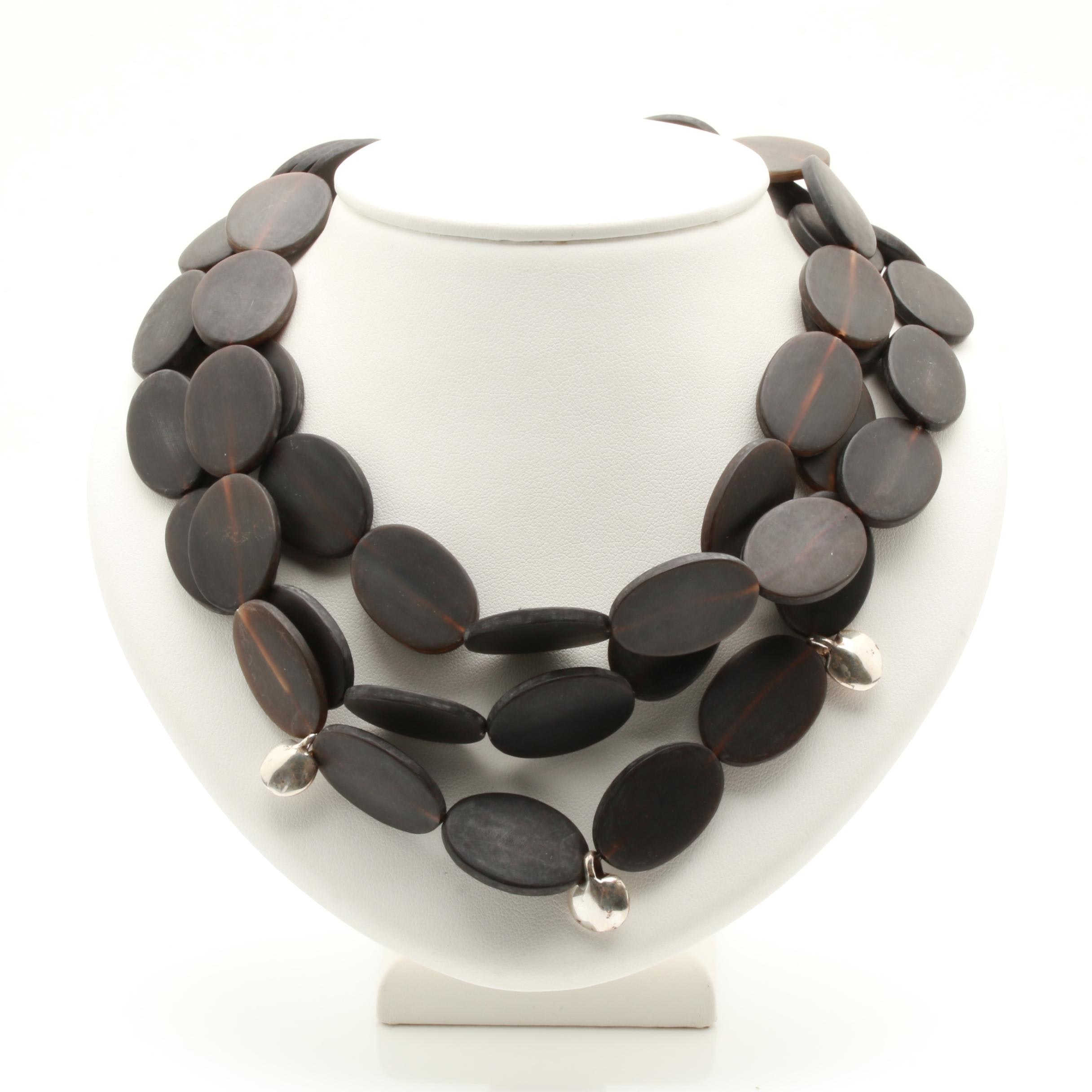 Miriam Salat Sterling Silver Horn Necklace