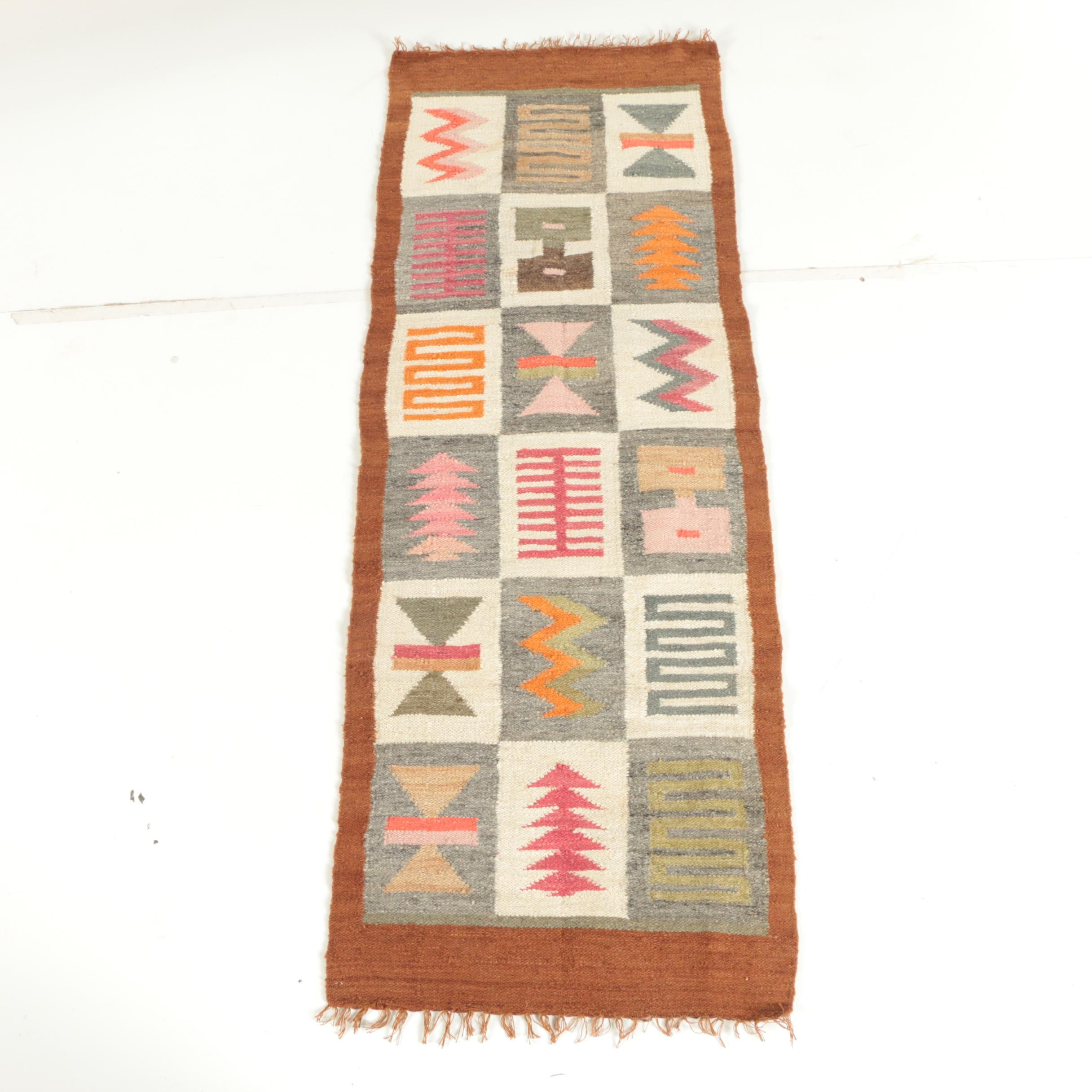 Handwoven Mexican or South American Wool Carpet Runner