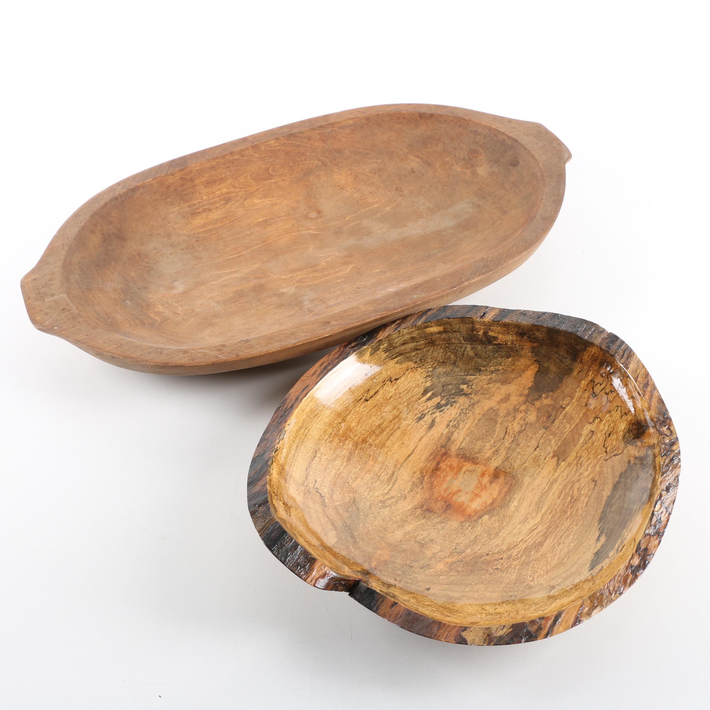 Douglas Richard Swamp Maple Bowl with Wood Dough Bowl