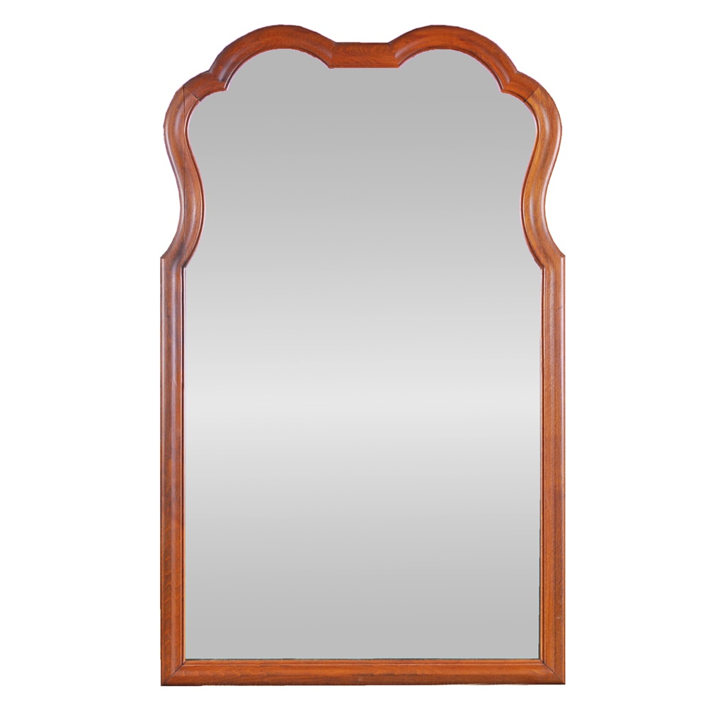 Rectangular Wall Mirror with Wood Frame