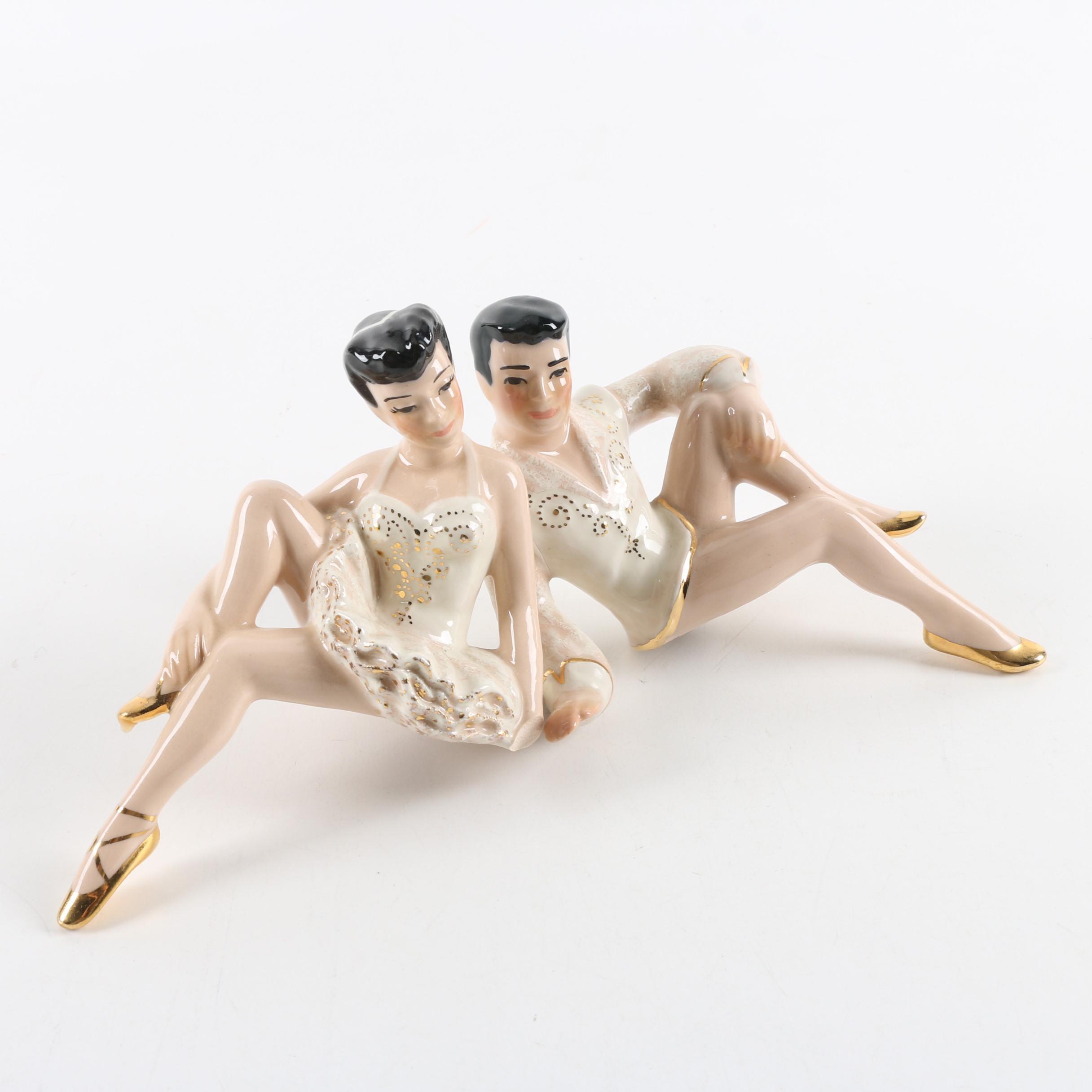 Ceramic Arts Studio Shelf Dancer Figurines