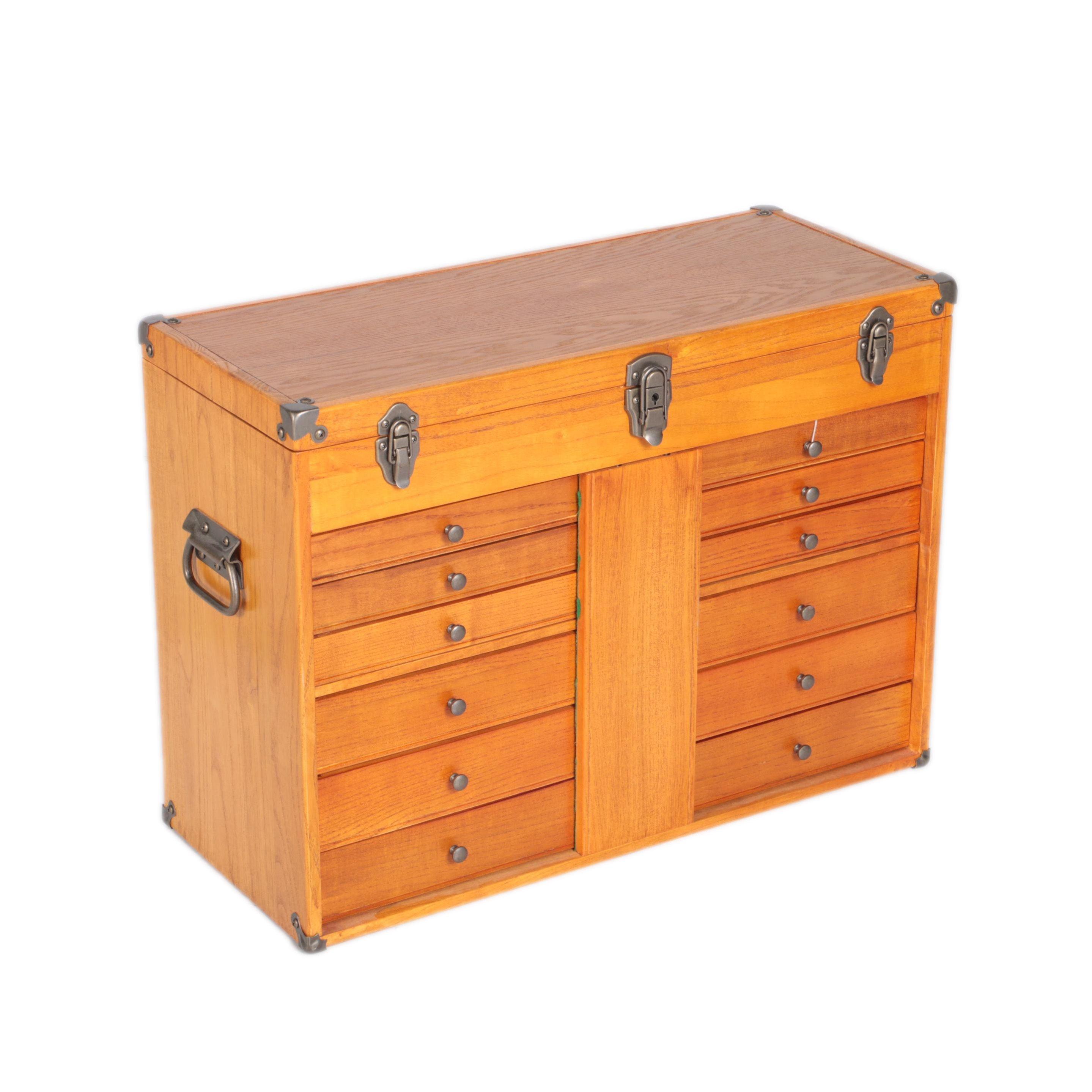 Vintage Ash Machinist's Box