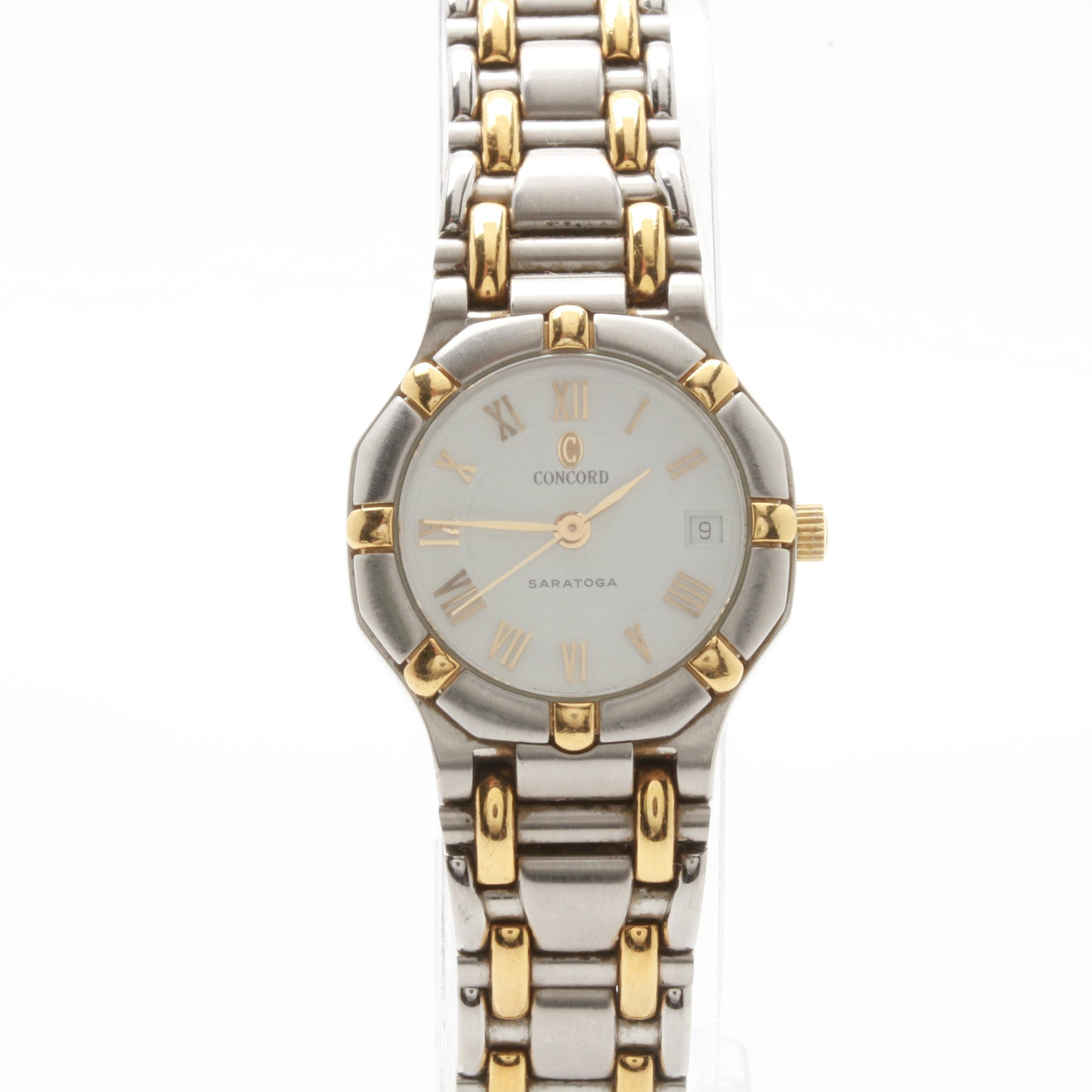Concord Saratoga Stainless Steel and 18K Yellow Gold Wristwatch