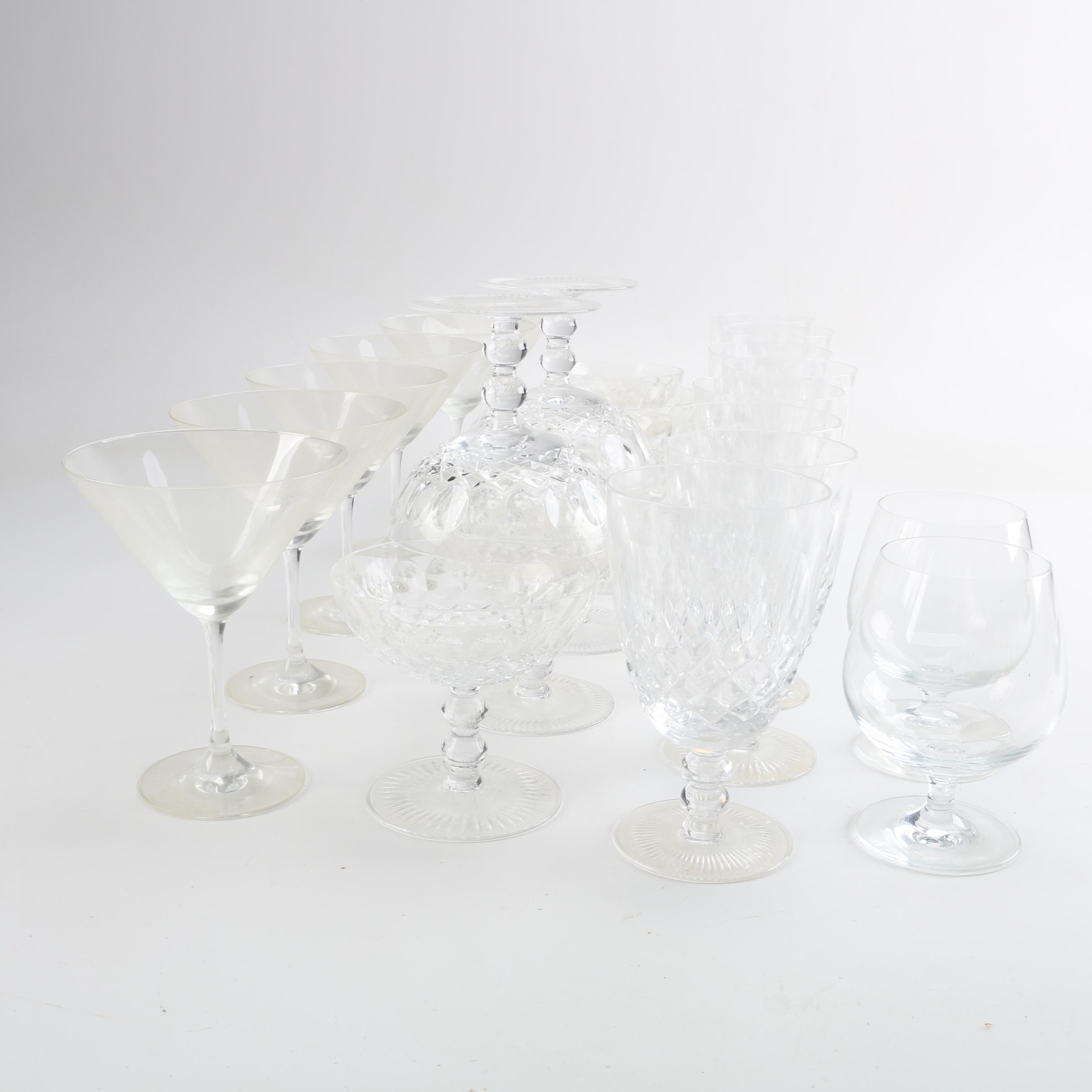 Glass Stemware of Various Styles