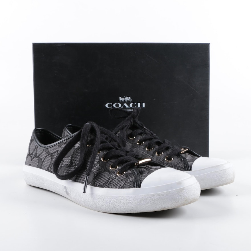 Women s Coach Signature Canvas Sneakers   EBTH 1181cb237
