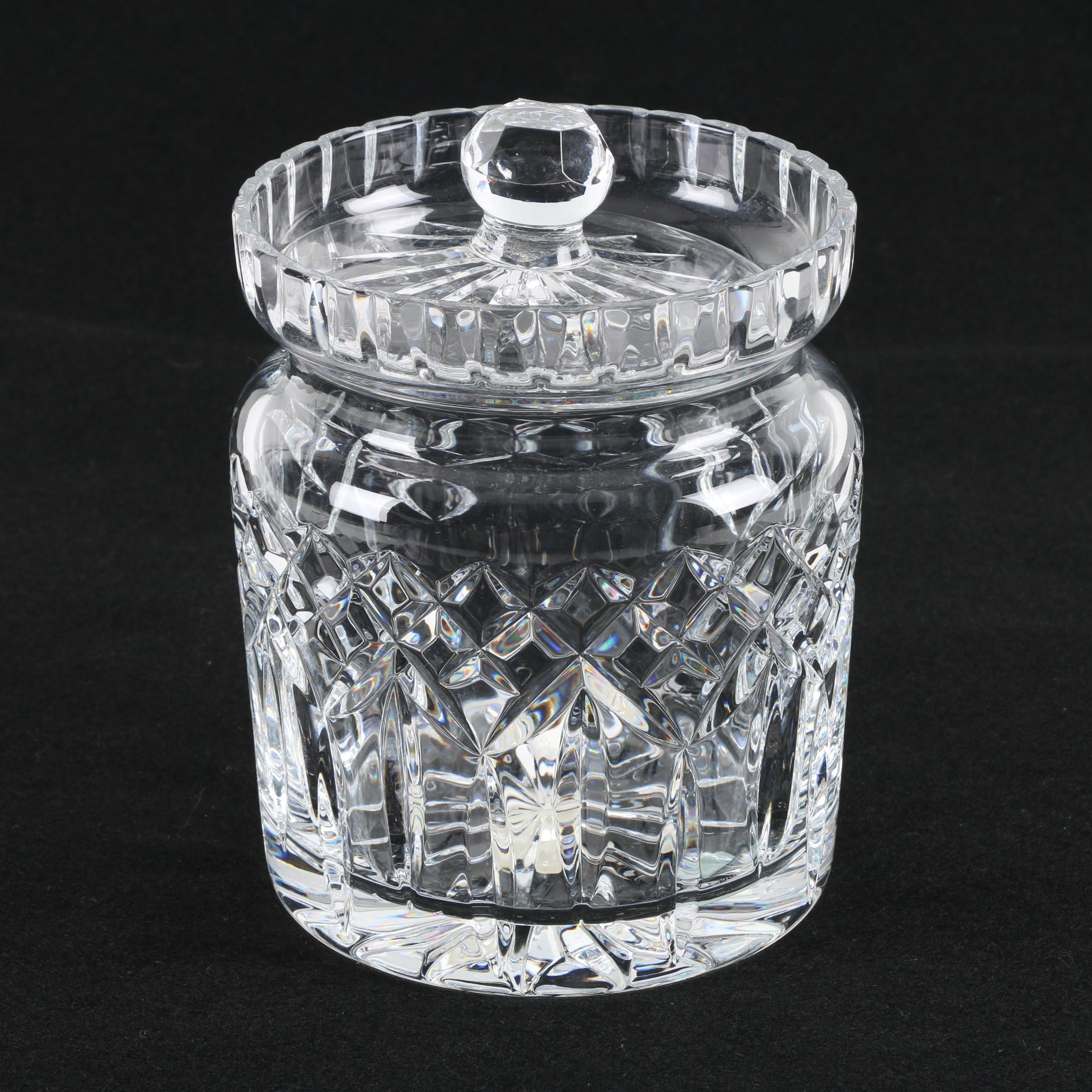 "Waterford ""Lismore"" Crystal Biscuit Barrel"
