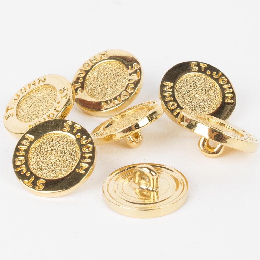 St. John Gold Tone Buttons