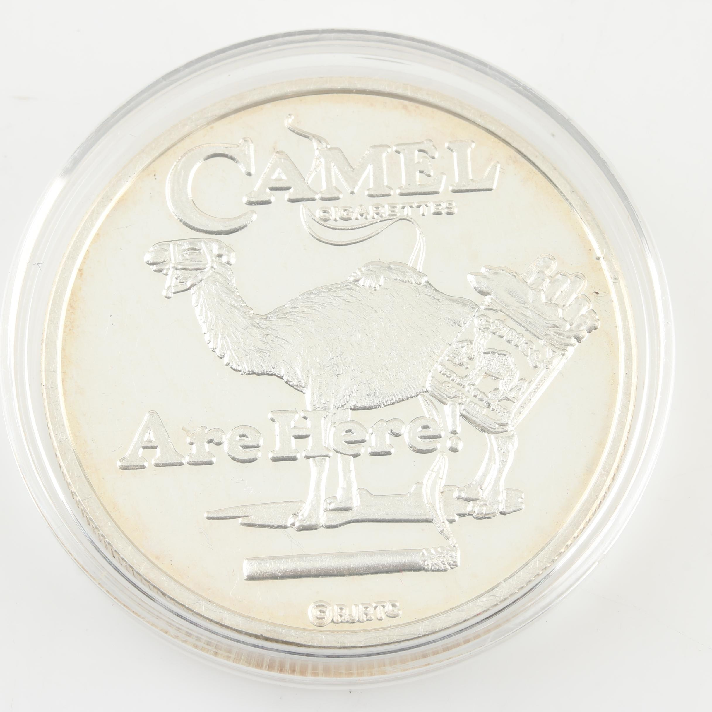 Camel Cigarettes 1-Ounce Proof Silver Round