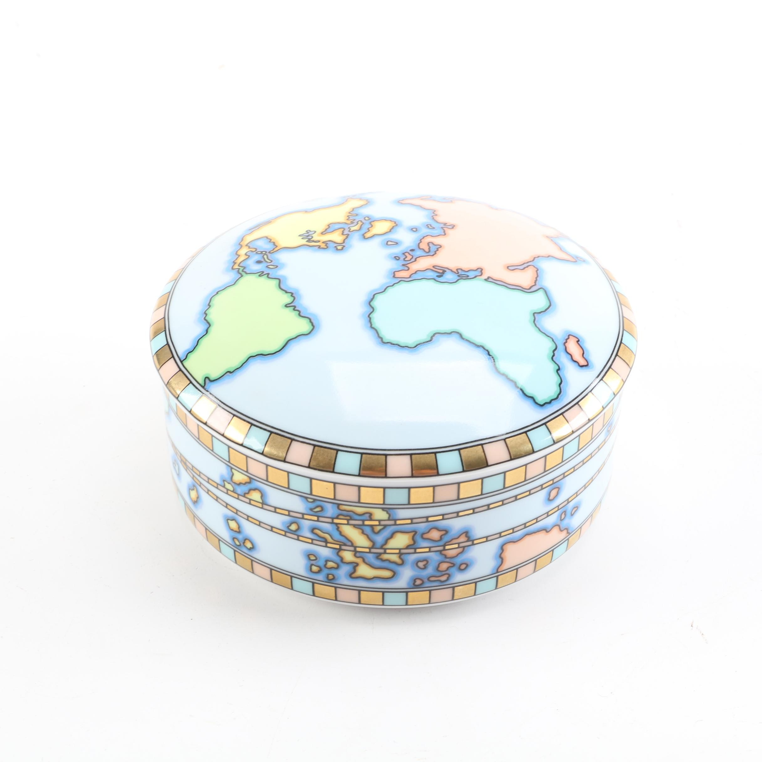 Tiffany & Co. World Map Trinket Box