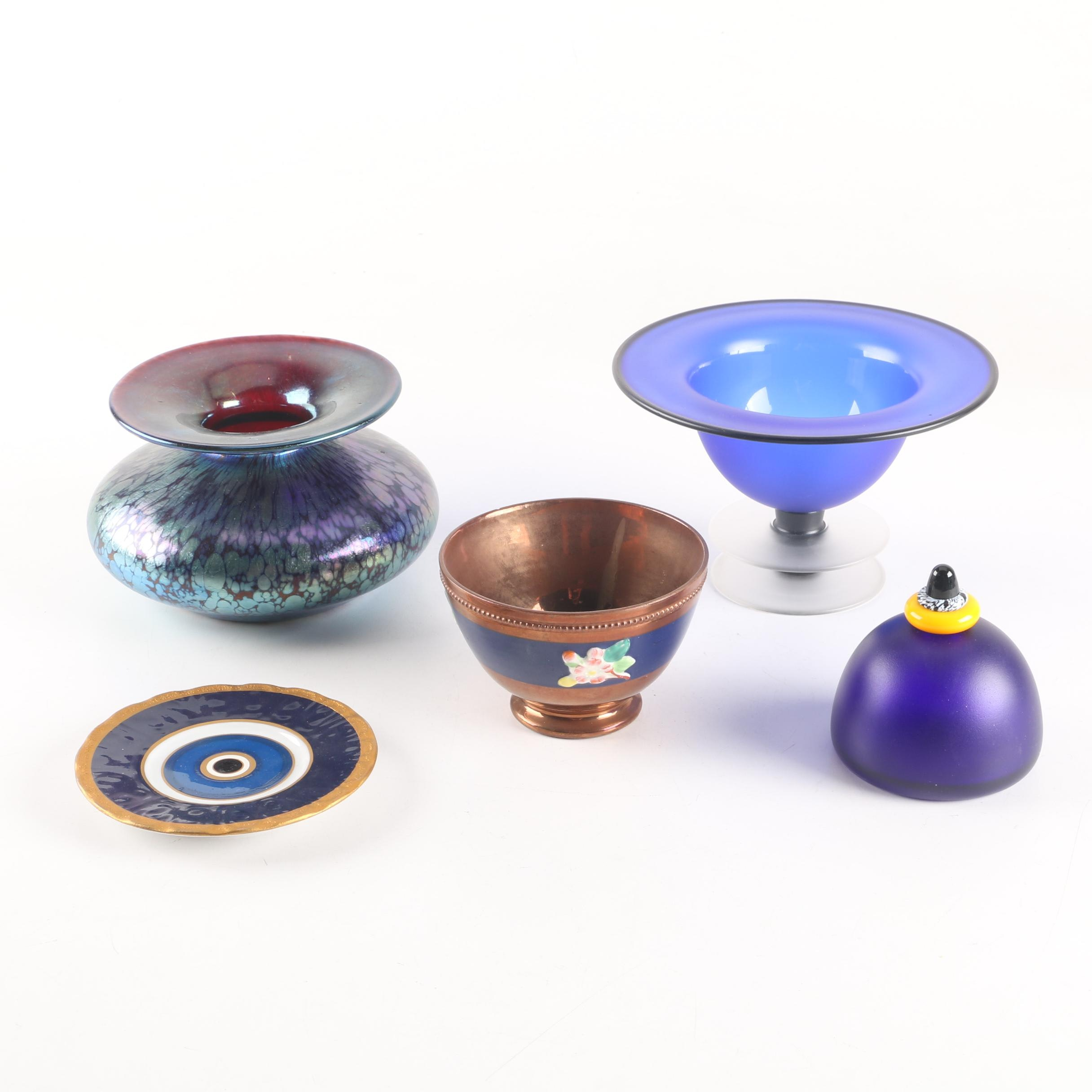 Art Glass Including Paul Barcroft with Decorative Tableware