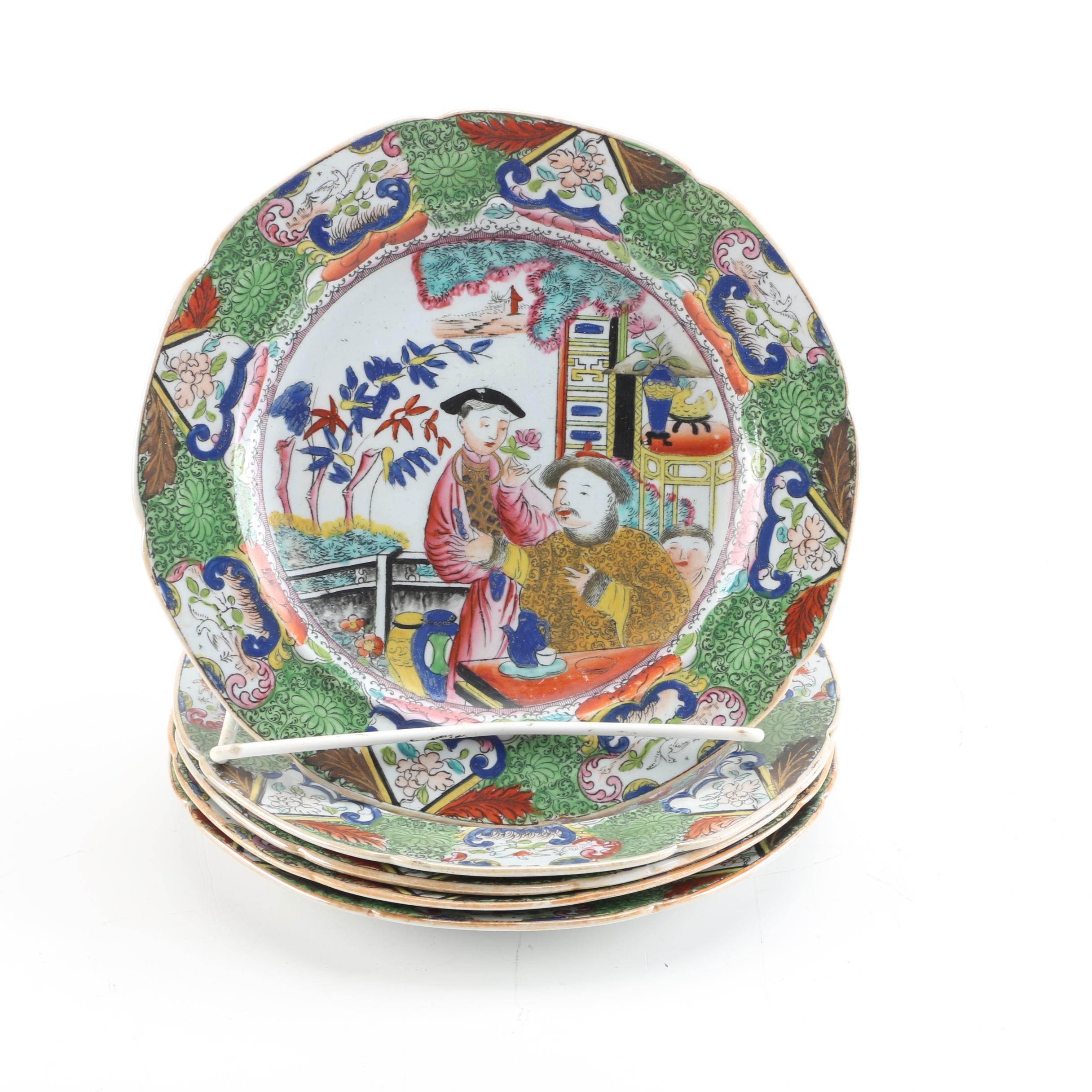 Antique Mason's Patent Ironstone China Plates ca. 1813-20