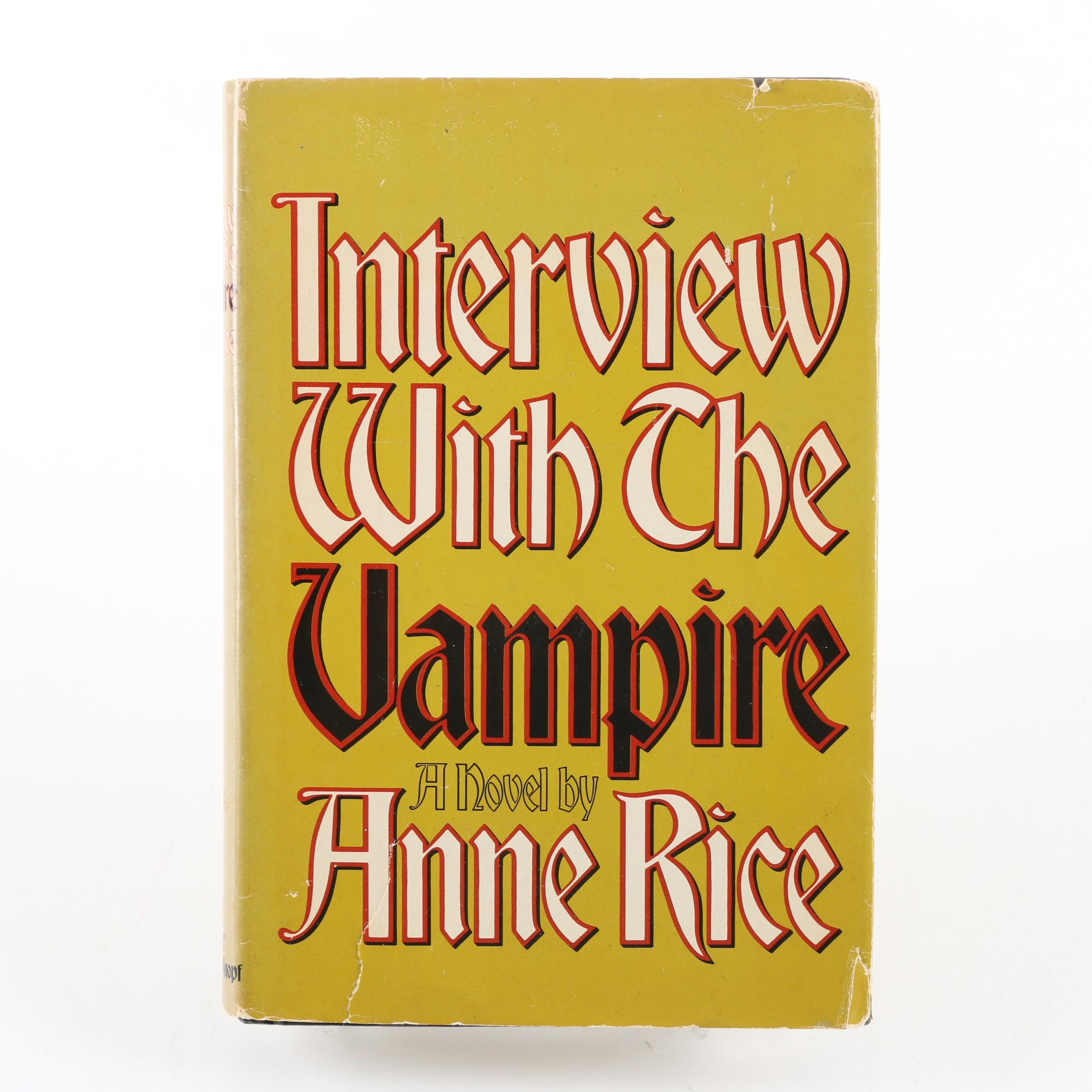 "1976 Signed ""Interview With the Vampire"" Book Club Edition by Anne Rice"