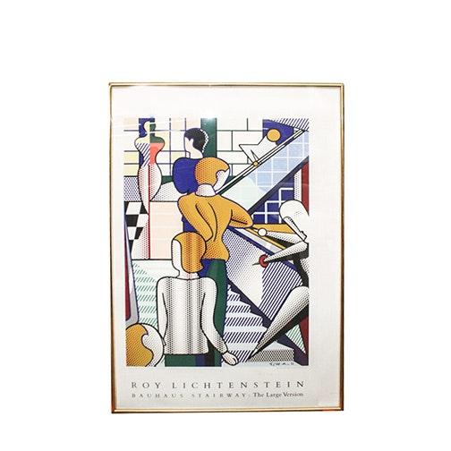 """Roy Lichtenstein Serigraph """"Bauhaus Stairway: The Large Version"""""""