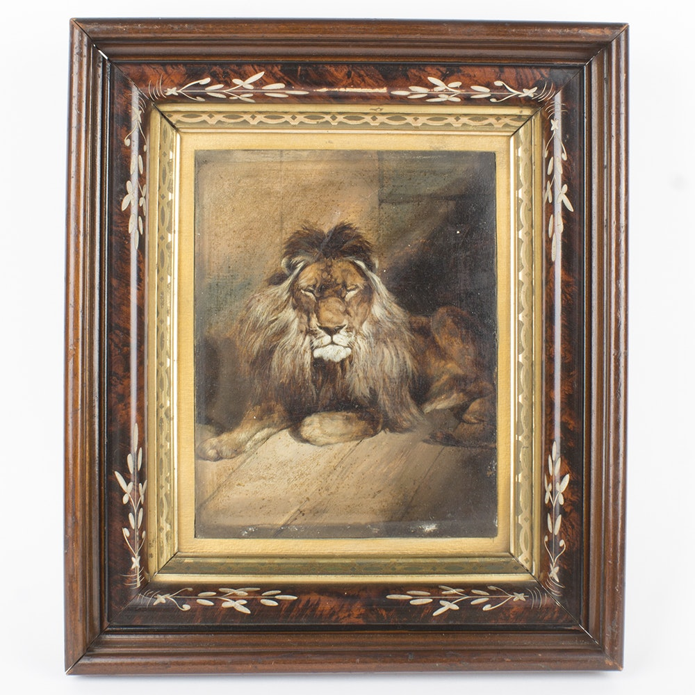 Oil Painting of Lion