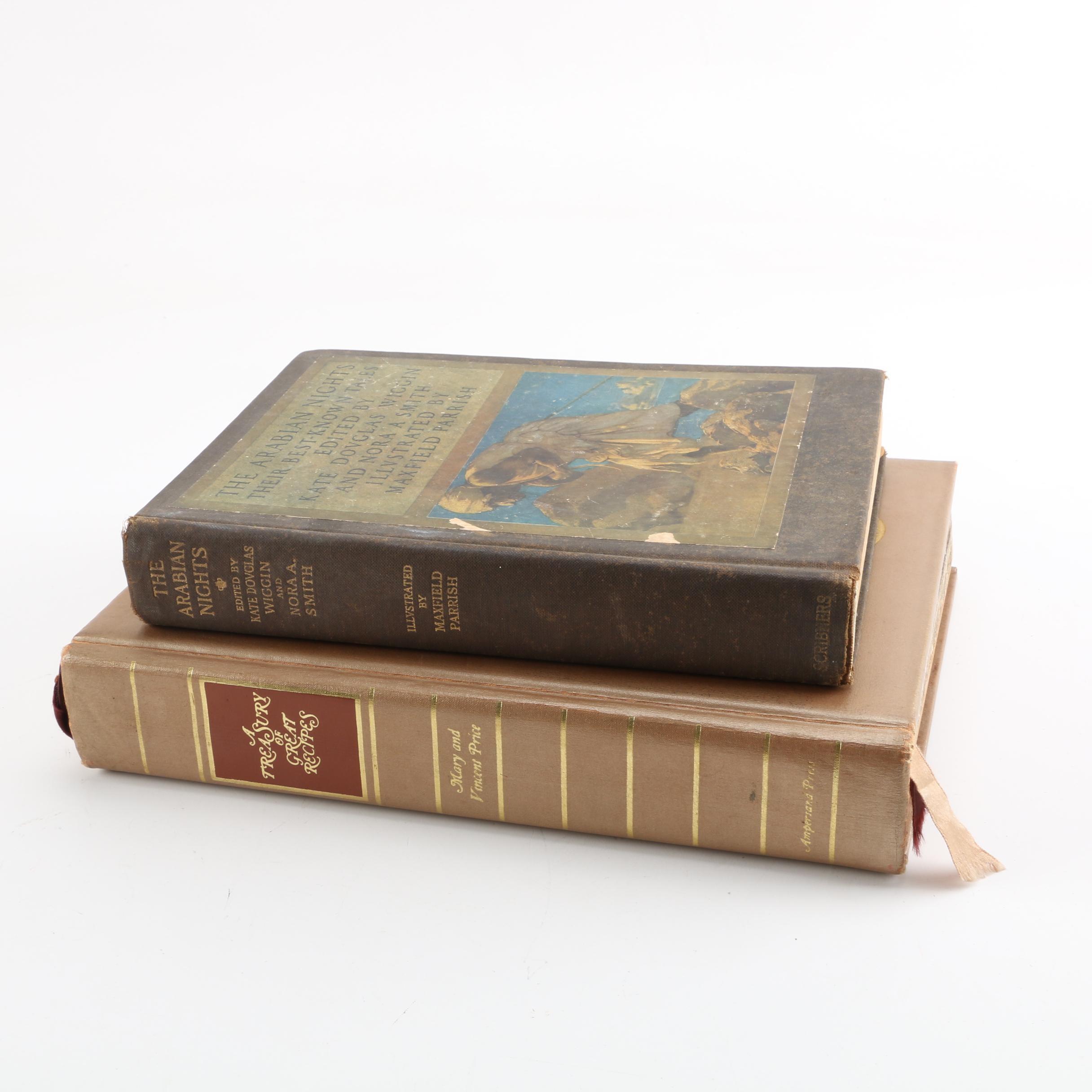 "1965 ""A Treasury of Great Recipes"" and 1925 ""The Arabian Nights"""