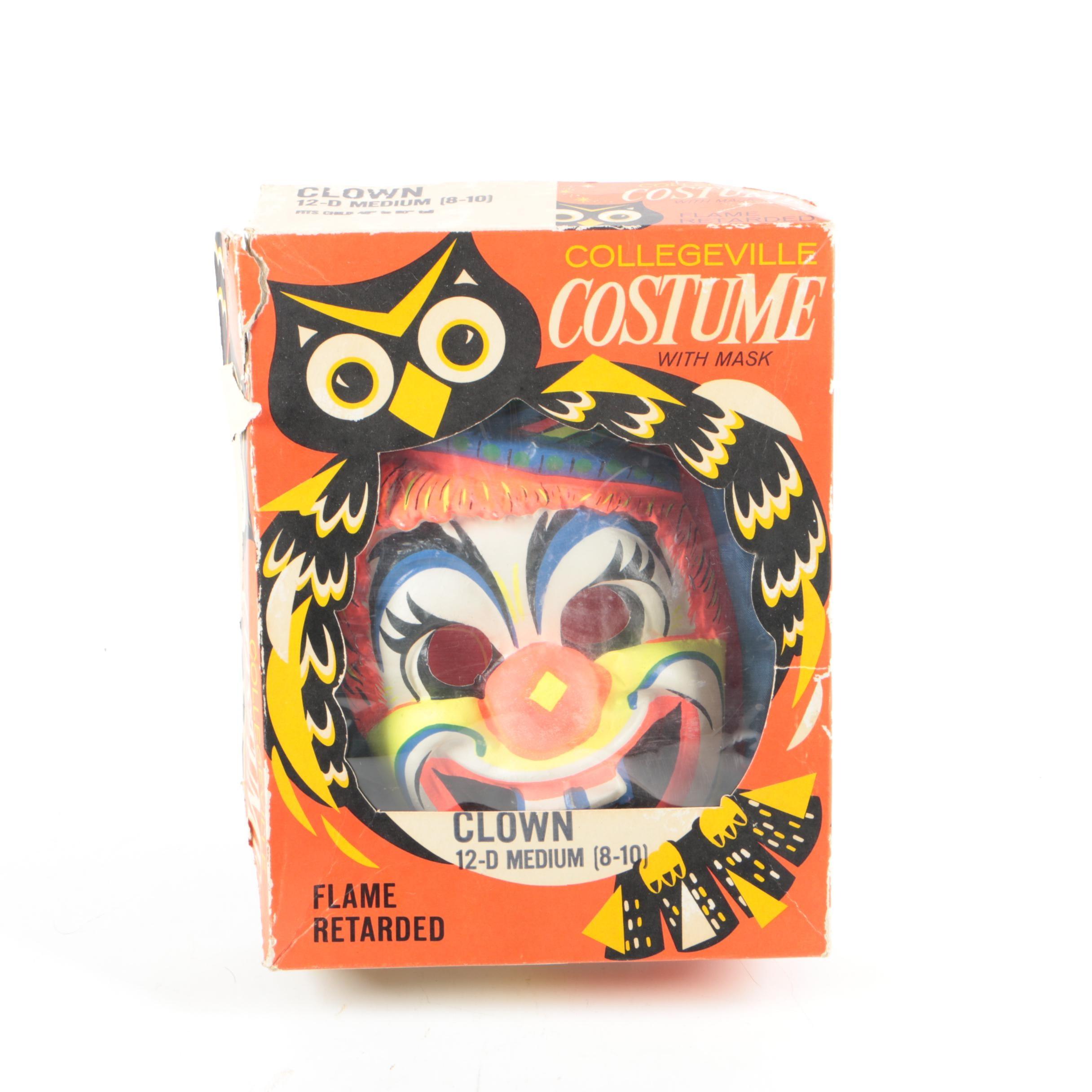 Vintage Collegeville Children's Clown Halloween Costume