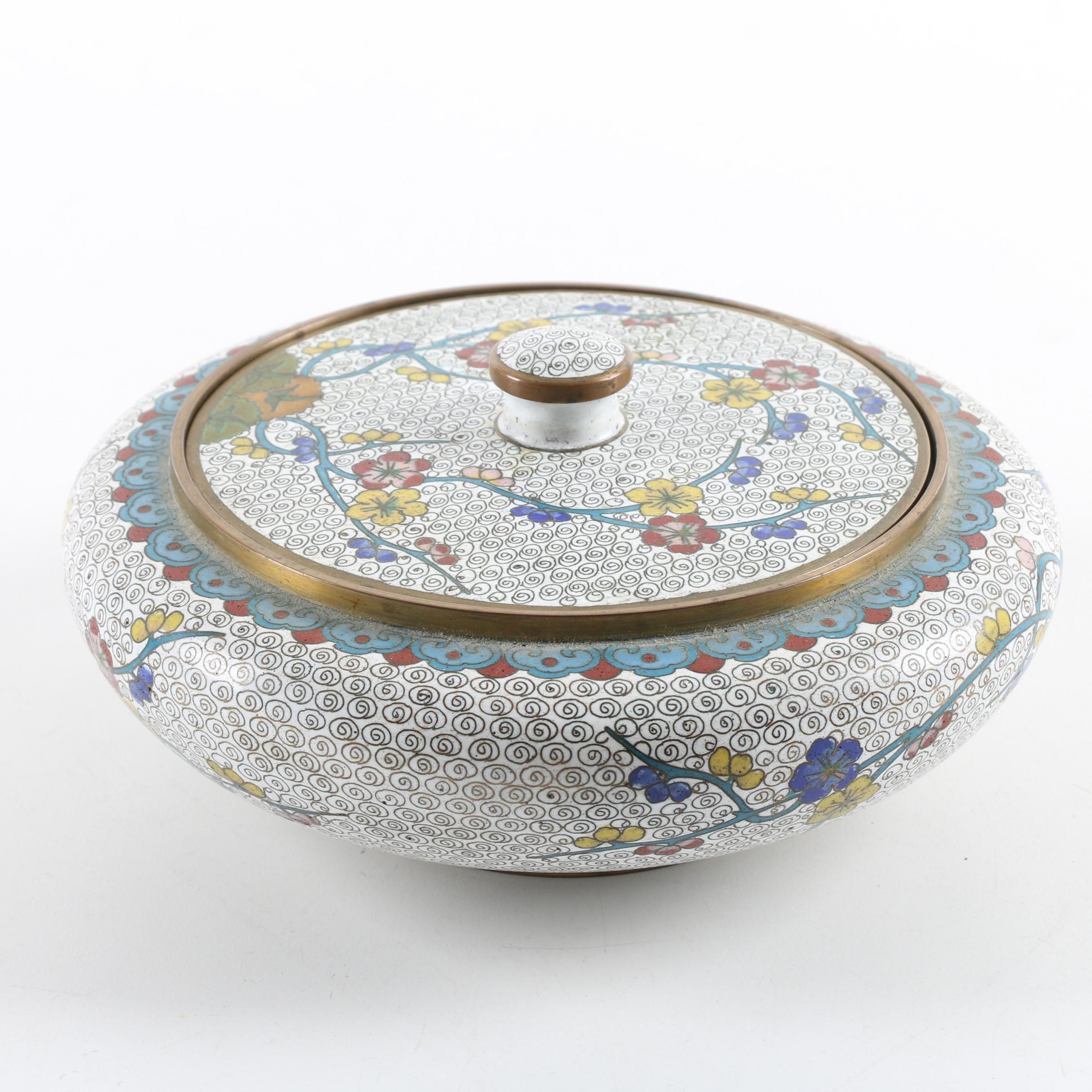 Chinese Cloisonné Jar