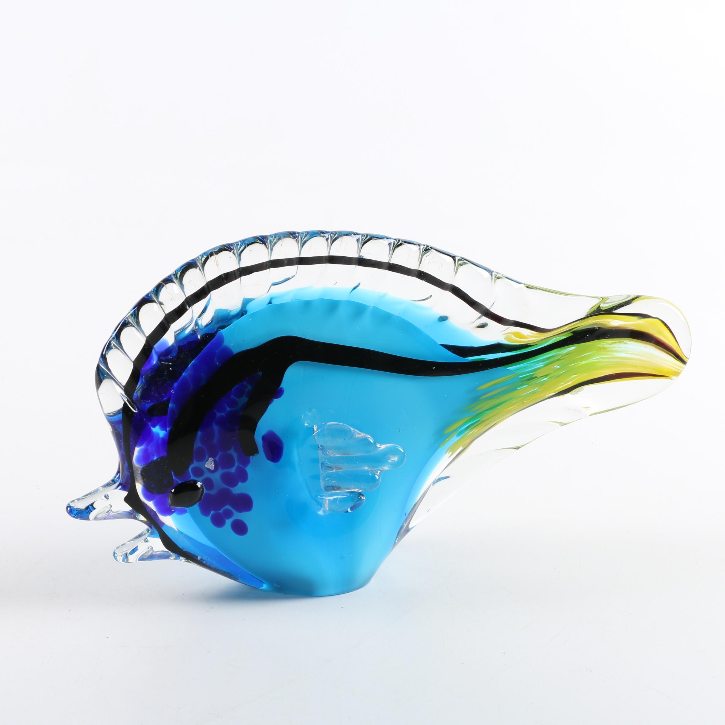 Cristalleria d'Arte Murano Glass Fish Sculpture