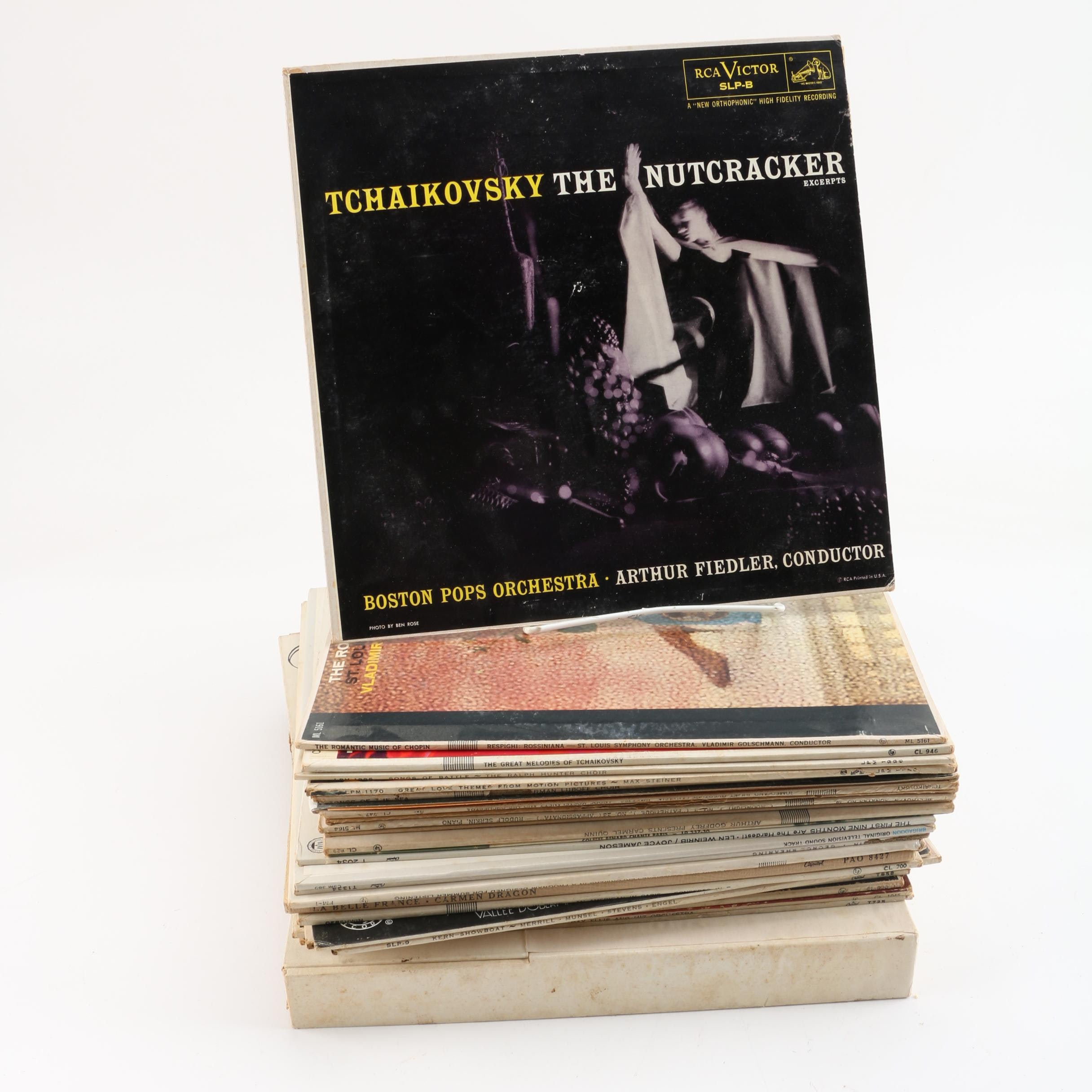Vintage Classical and Broadway Records Including Tchaikovsky, Beethoven, Chopin