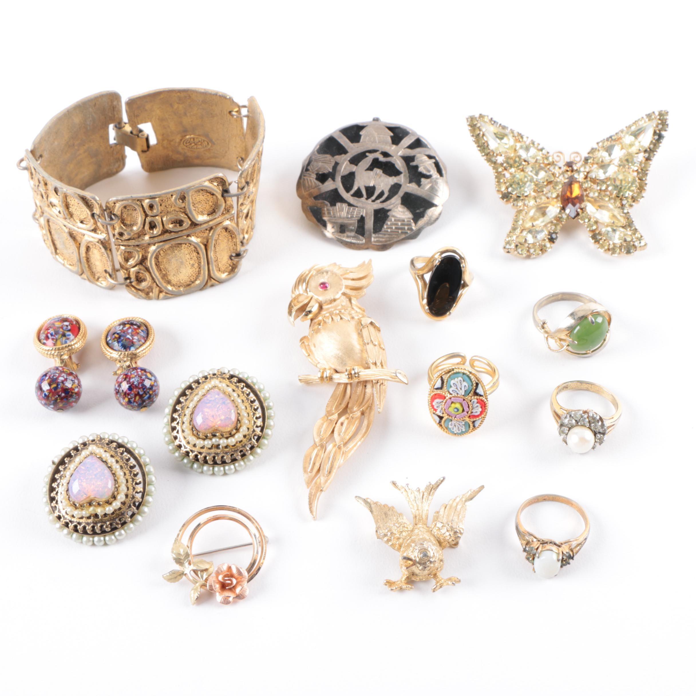 Capri by Daniel, Crown Trifari, Weiss and Krementz Costume Jewelry