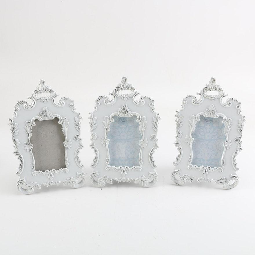 Parisian Home White Ceramic Picture Frames Ebth
