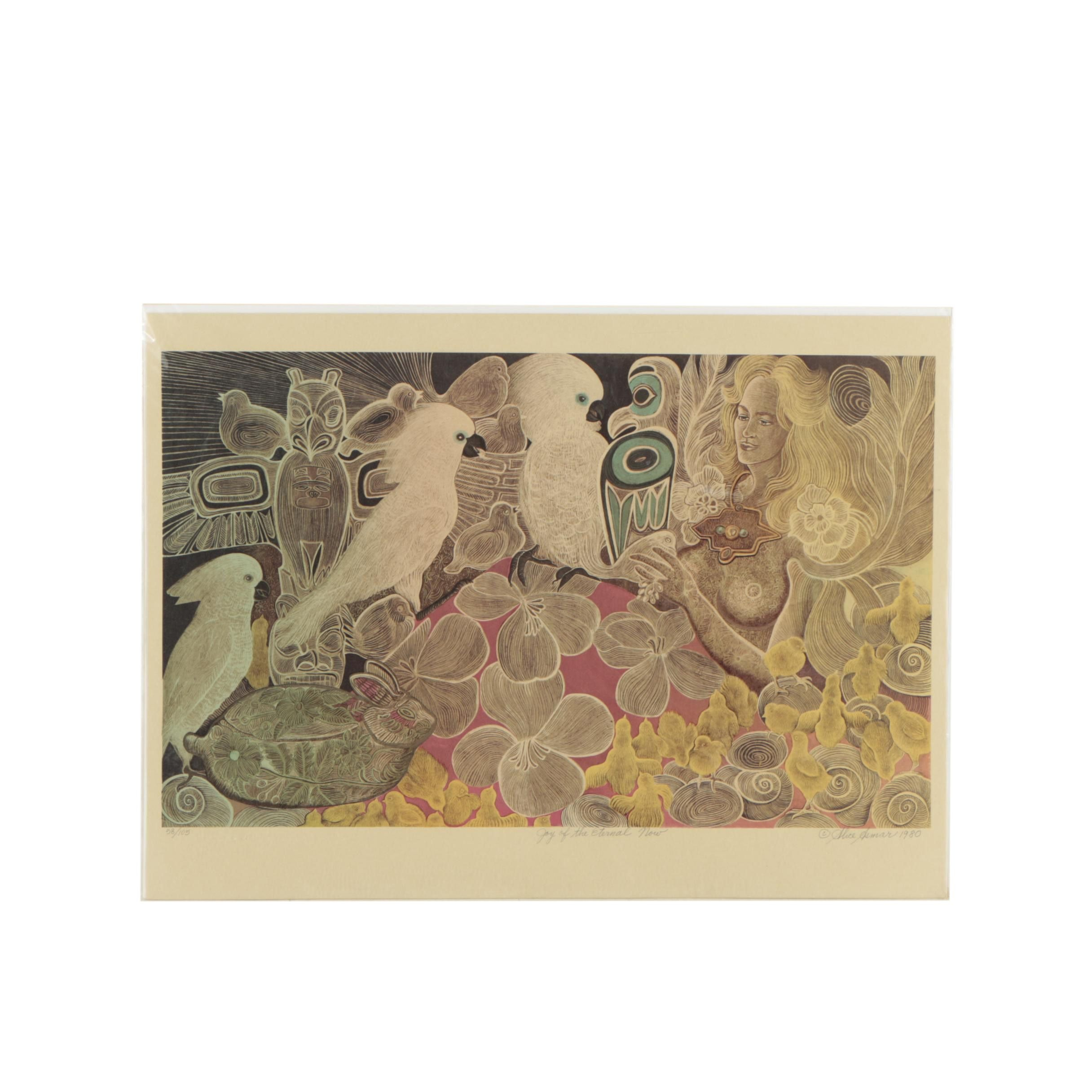 """Alice Asmar Lithograph """"Joy of the Eternal Now"""""""