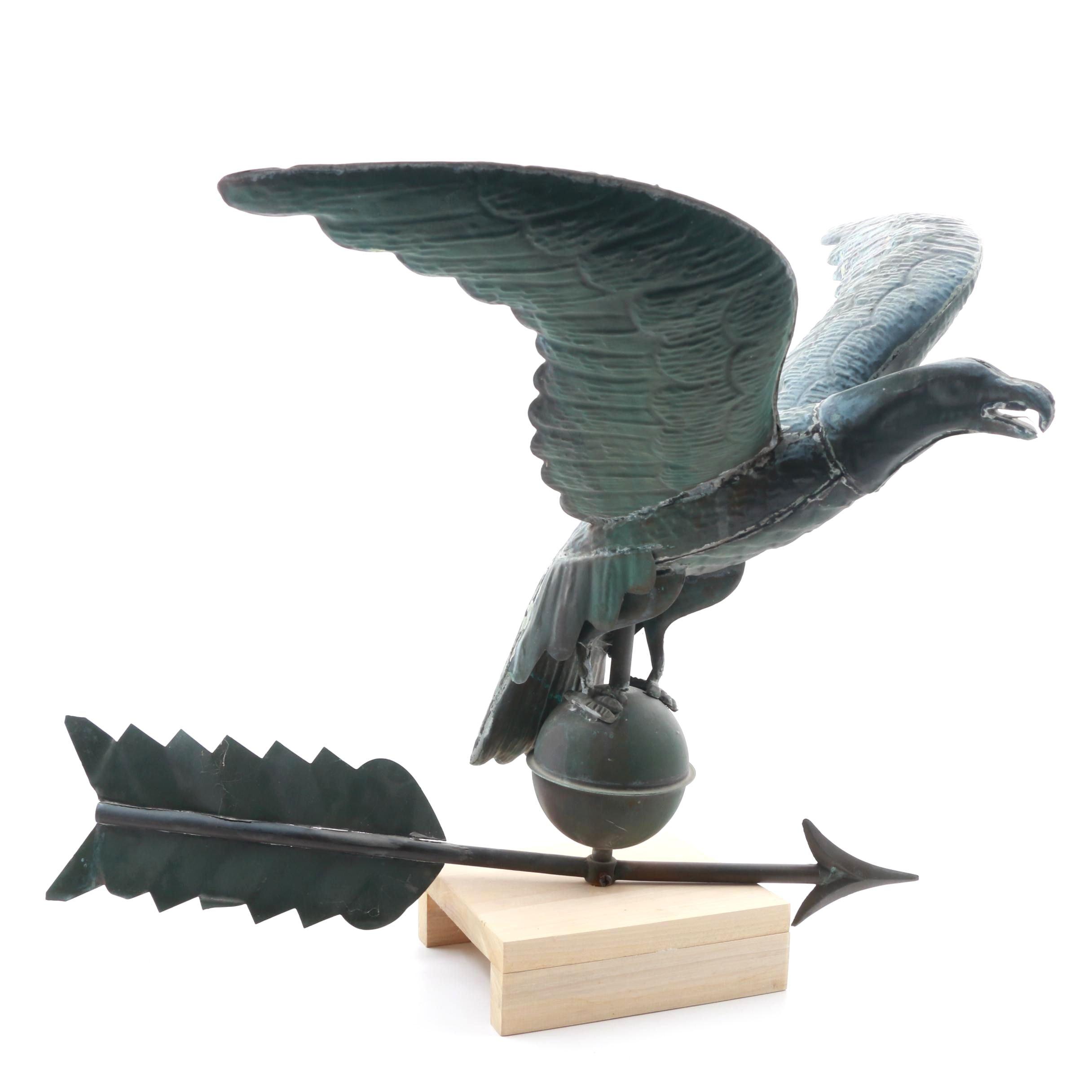 Vintage Eagle Weathervane Topper