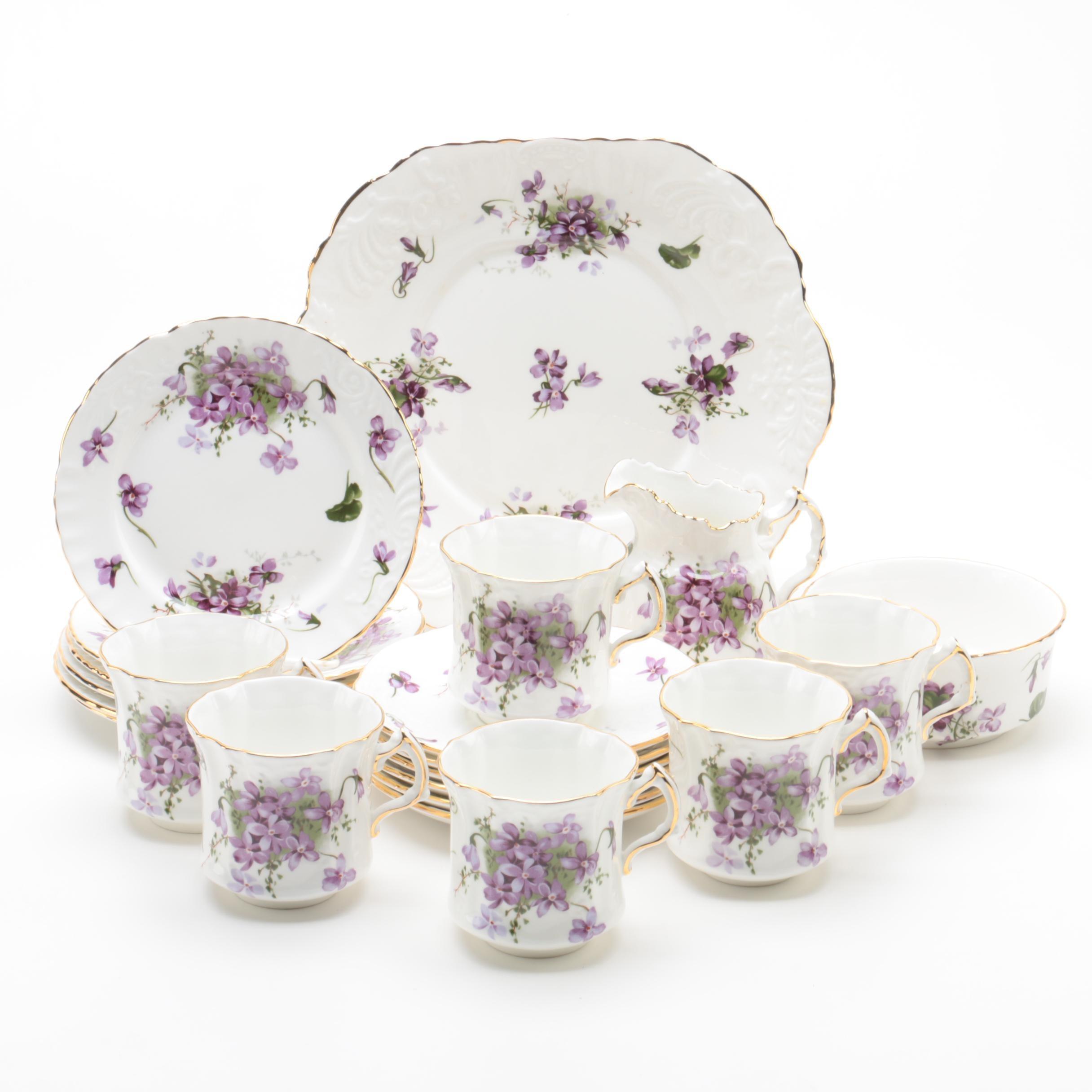 "Hammersley ""Victorian Violets"" Porcelain Tableware"